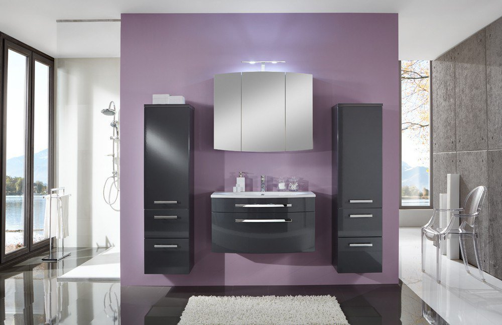 badezimmer 3100 anthrazit glanz von marlin m bel letz ihr online shop. Black Bedroom Furniture Sets. Home Design Ideas