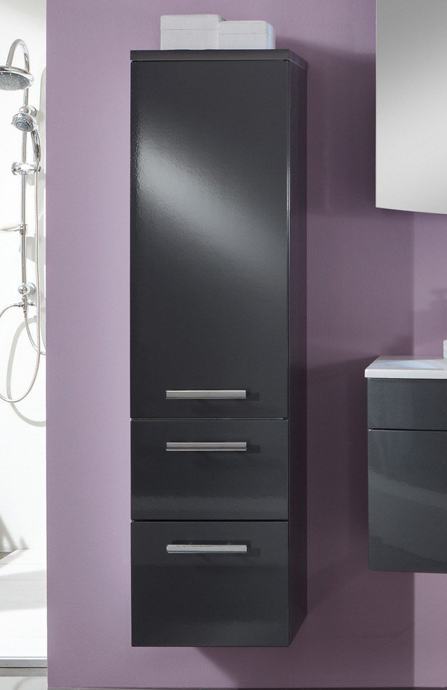 Badezimmer 3100 anthrazit glanz von marlin m bel letz for Badezimmer konfigurator