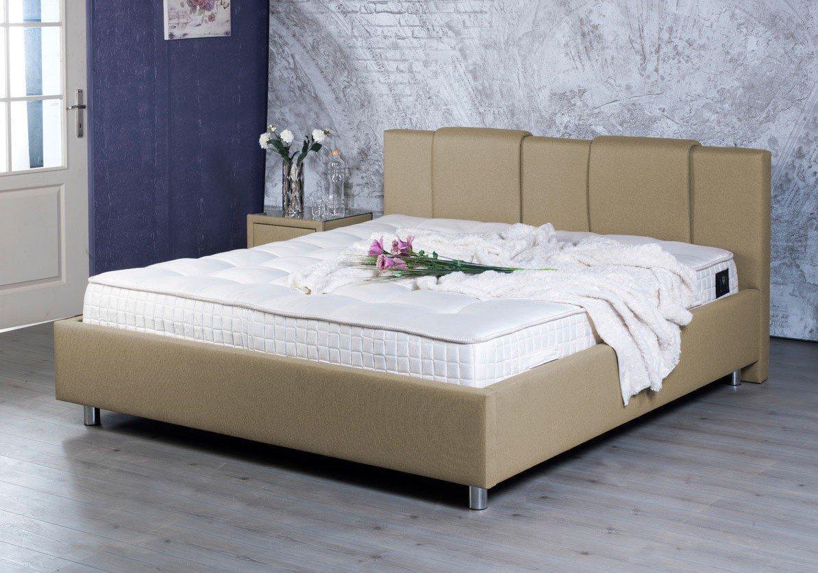 BED BOX Madison 2004 Polsterbett in Beige| Möbel Letz - Ihr Online-Shop