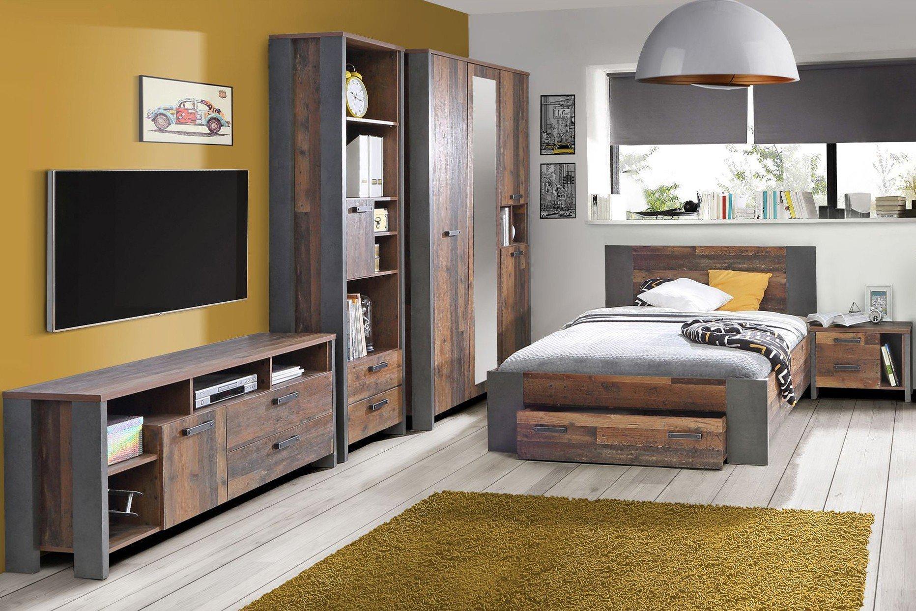 forte clif jugendzimmer old wood vintage m bel letz. Black Bedroom Furniture Sets. Home Design Ideas