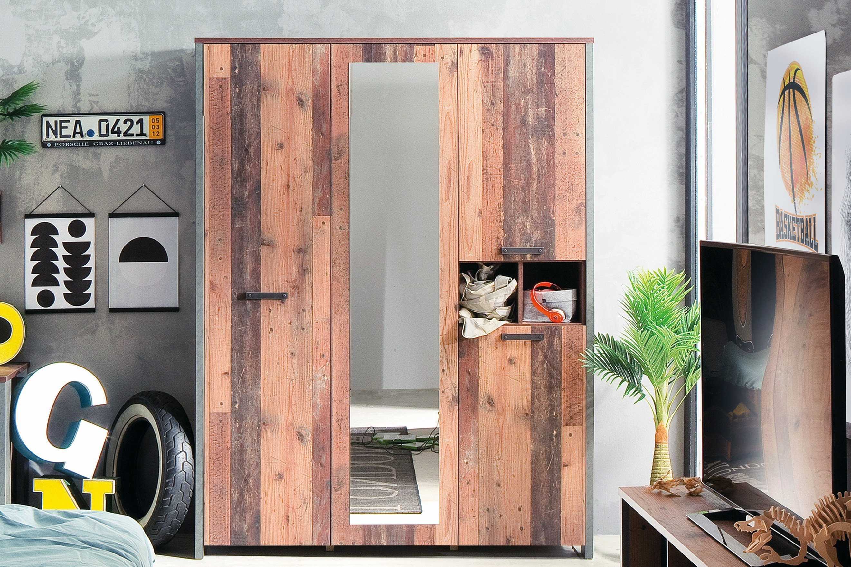 forte kleiderschrank clif mit spiegelauflage m bel letz ihr online shop. Black Bedroom Furniture Sets. Home Design Ideas