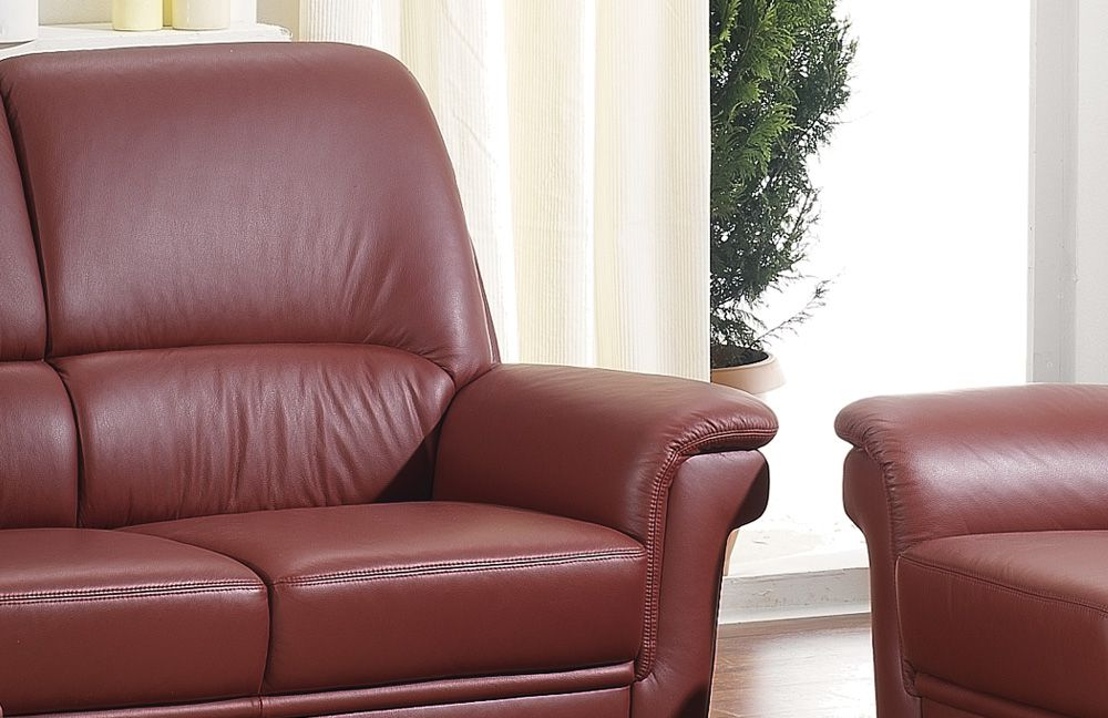 casada carat ledergarnitur rubinrot m bel letz ihr online shop. Black Bedroom Furniture Sets. Home Design Ideas