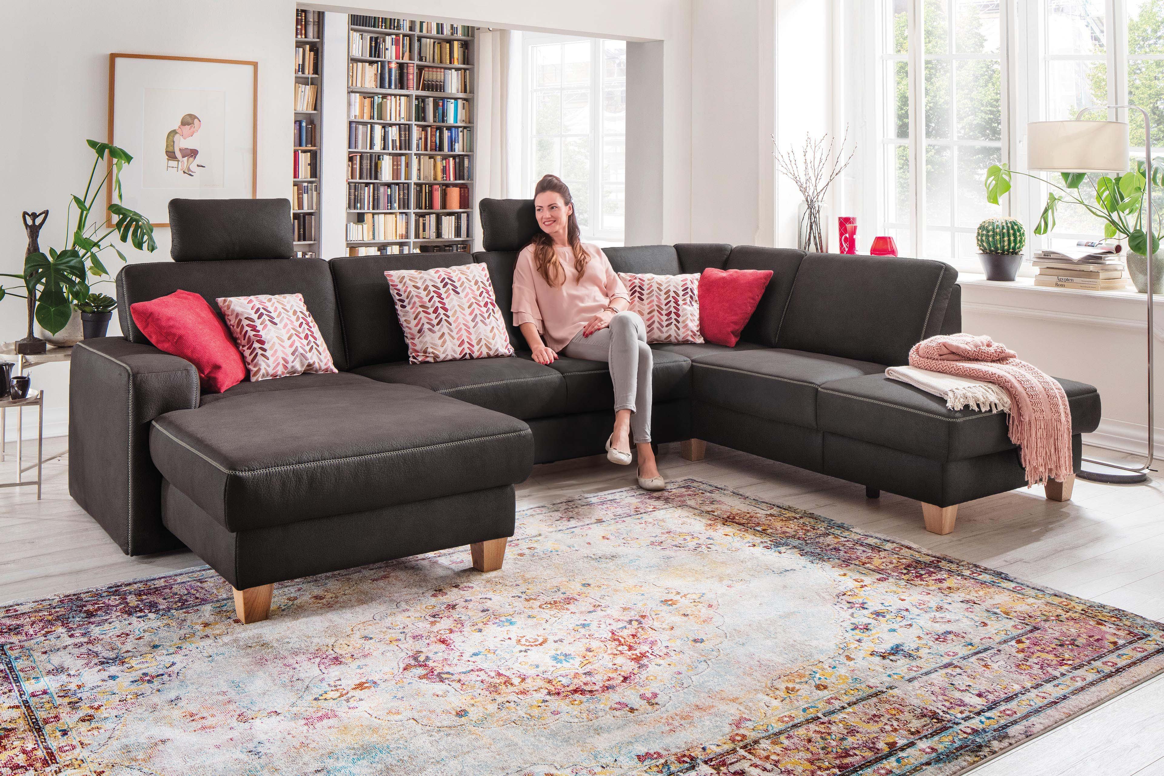 Sit More Home Basic Madison Plus Wohnlandschaft Anthrazit Mobel