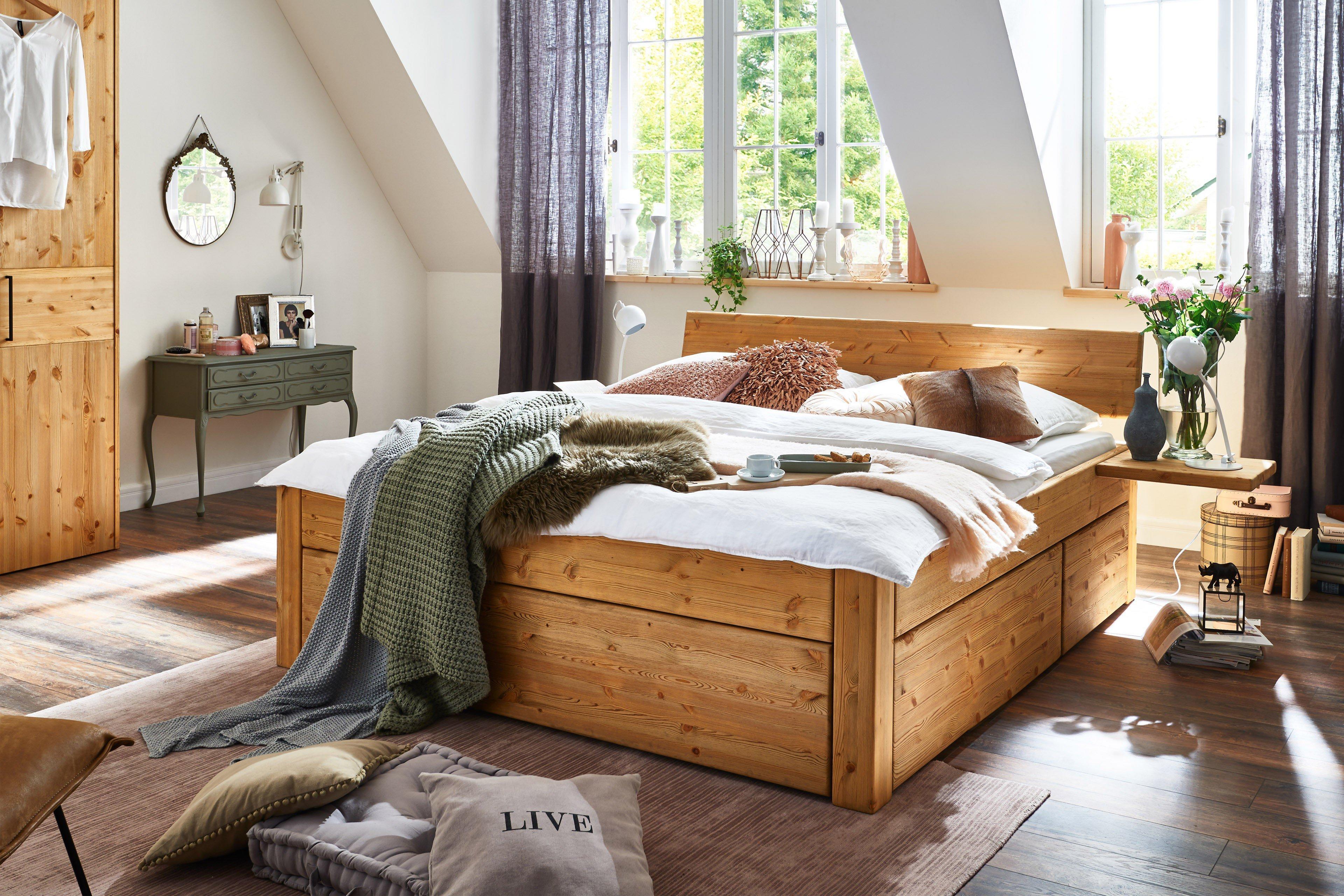 Easy Sleep Tjørnbo Stauraum Bett Kiefer Gelaugt Möbel Letz Ihr