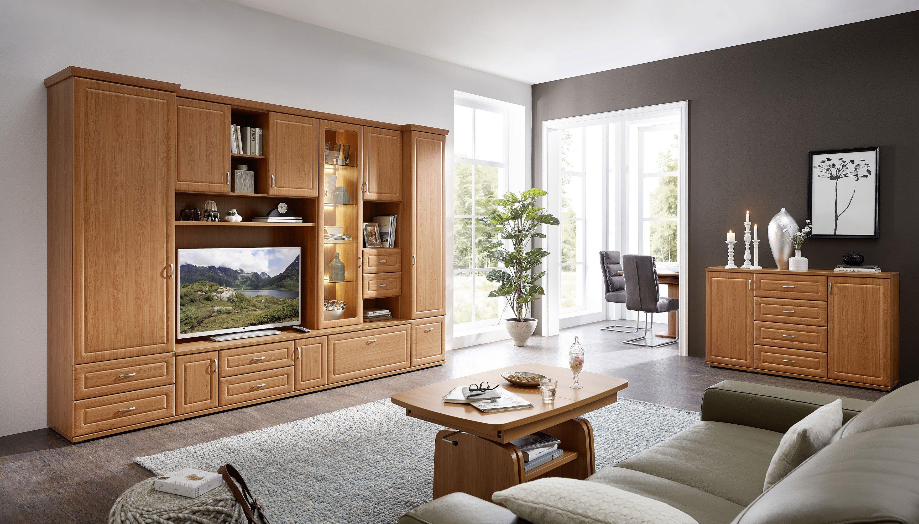 Stralsunder Wohnwand Jasmund Eb 31507 Kirschbaum Möbel Letz Ihr