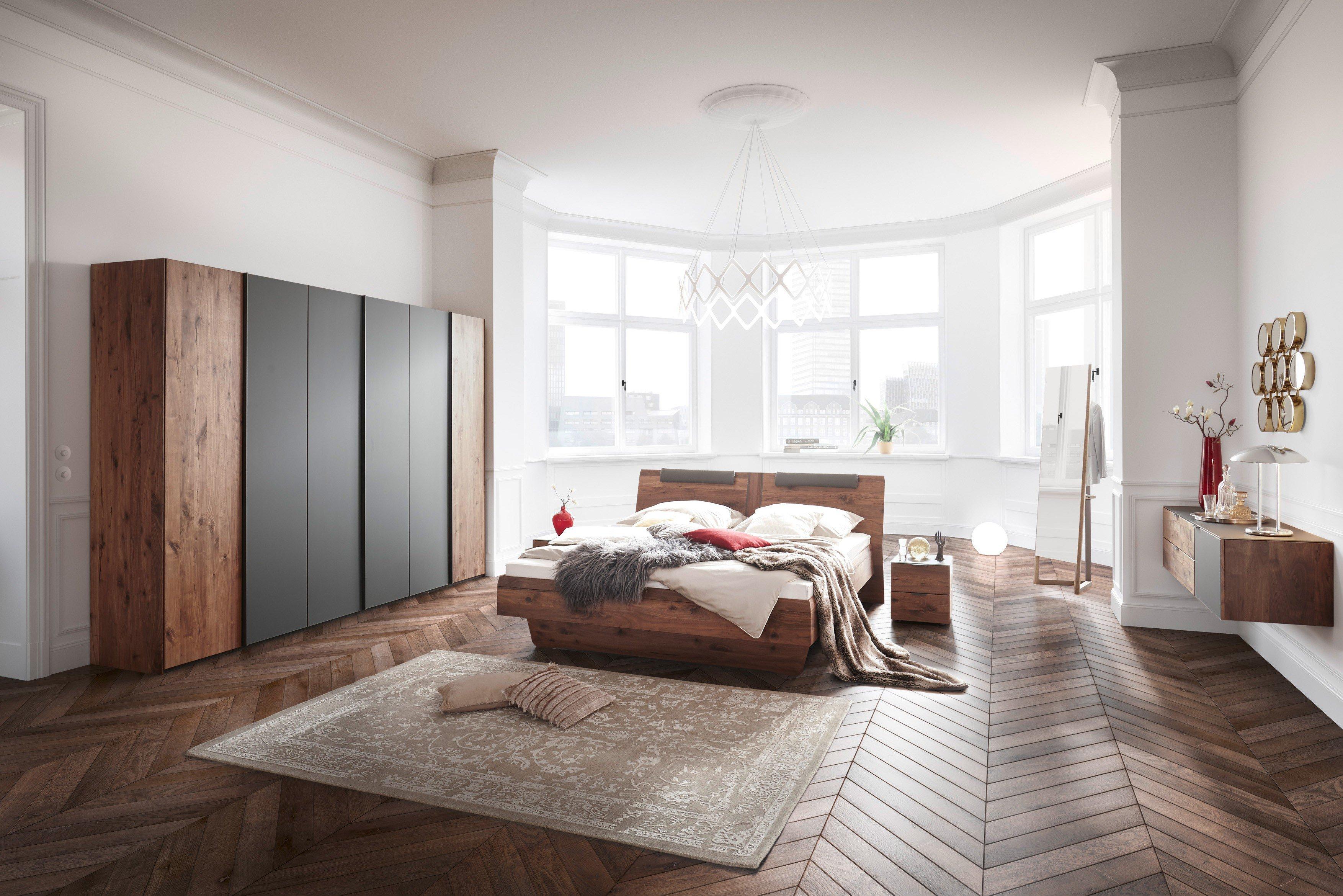 Sleep von Thielemeyer - Schlafzimmer Nussbaum - Colorglas