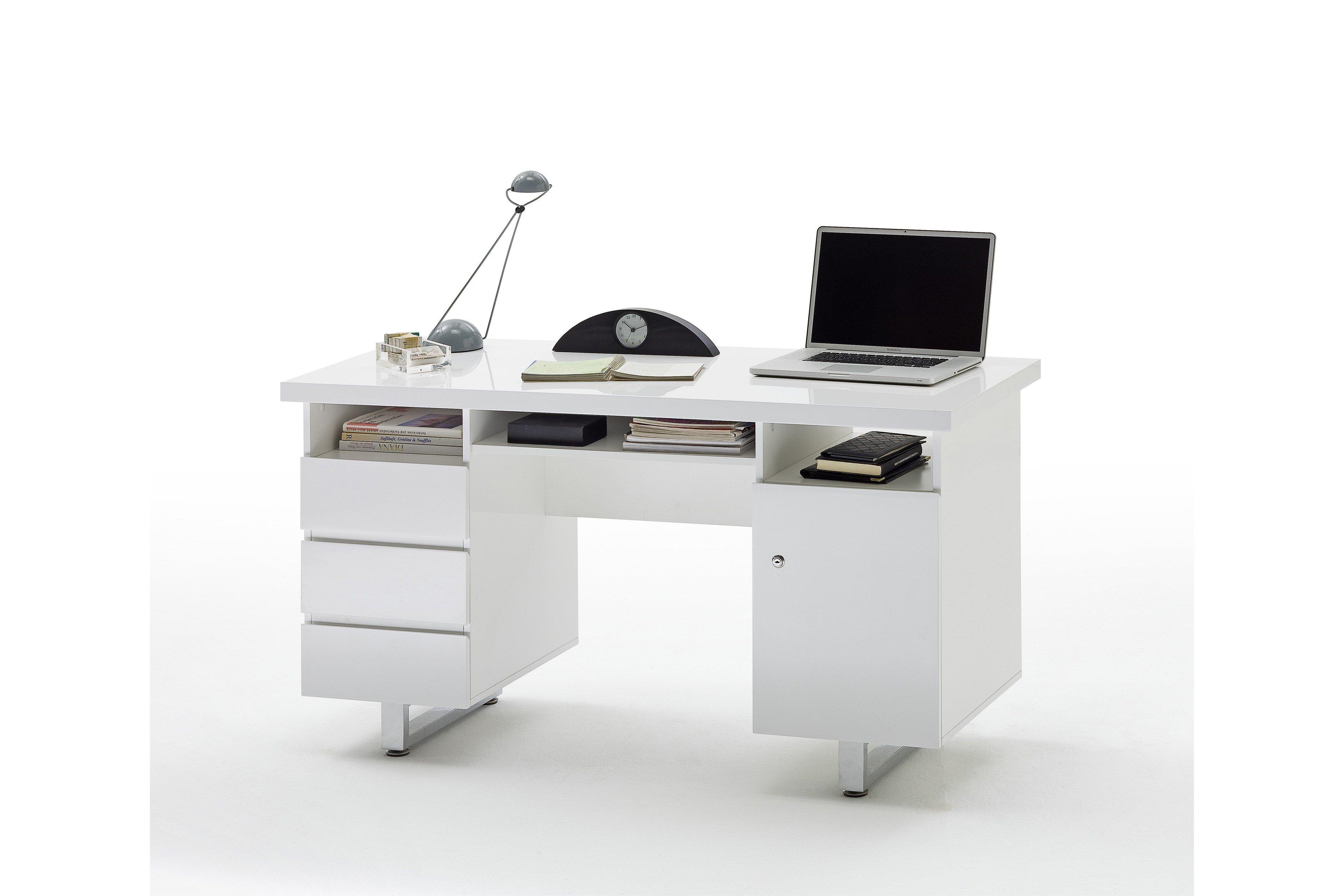51fc4b7c2c5981 Mca Sydney Schreibtisch Hochglanz Weiss Mobel Letz Ihr Online Shop