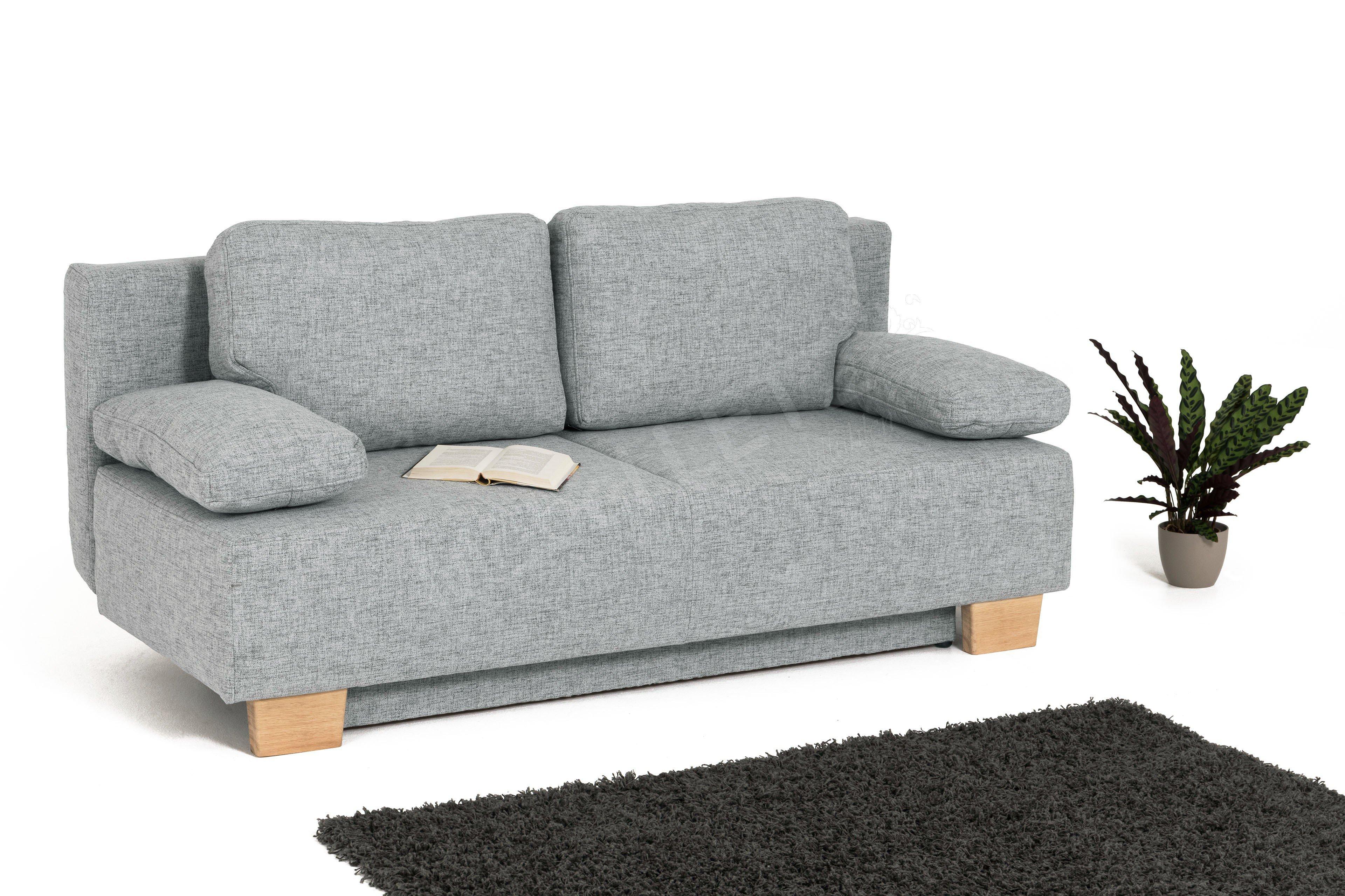 schlafsofa damian in hellgrau inklusive bettkasten m bel letz ihr online shop. Black Bedroom Furniture Sets. Home Design Ideas