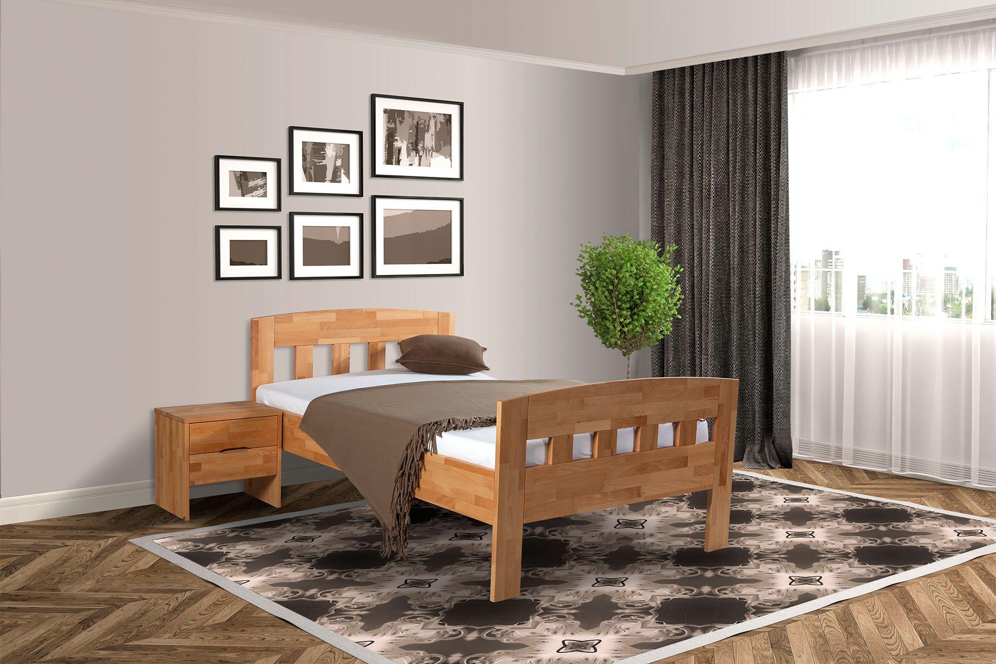 Bed Box Comfort Holzbett Geölte Buche 90 X 200 Cm Möbel Letz Ihr