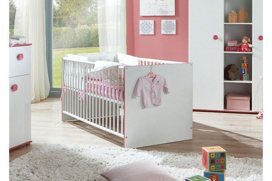 Arthur Berndt Mia Babybett weiß/ pink | Möbel Letz - Ihr Online-Shop