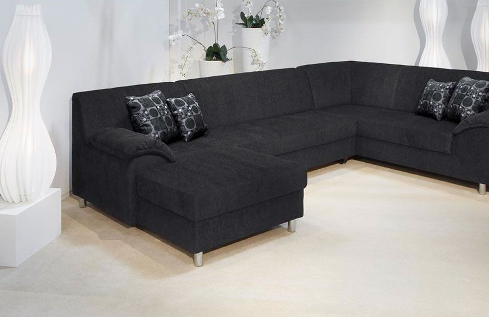 sapporo von nordica wohnlandschaft schwarz polsterm bel g nstig online kaufen sofa couch. Black Bedroom Furniture Sets. Home Design Ideas