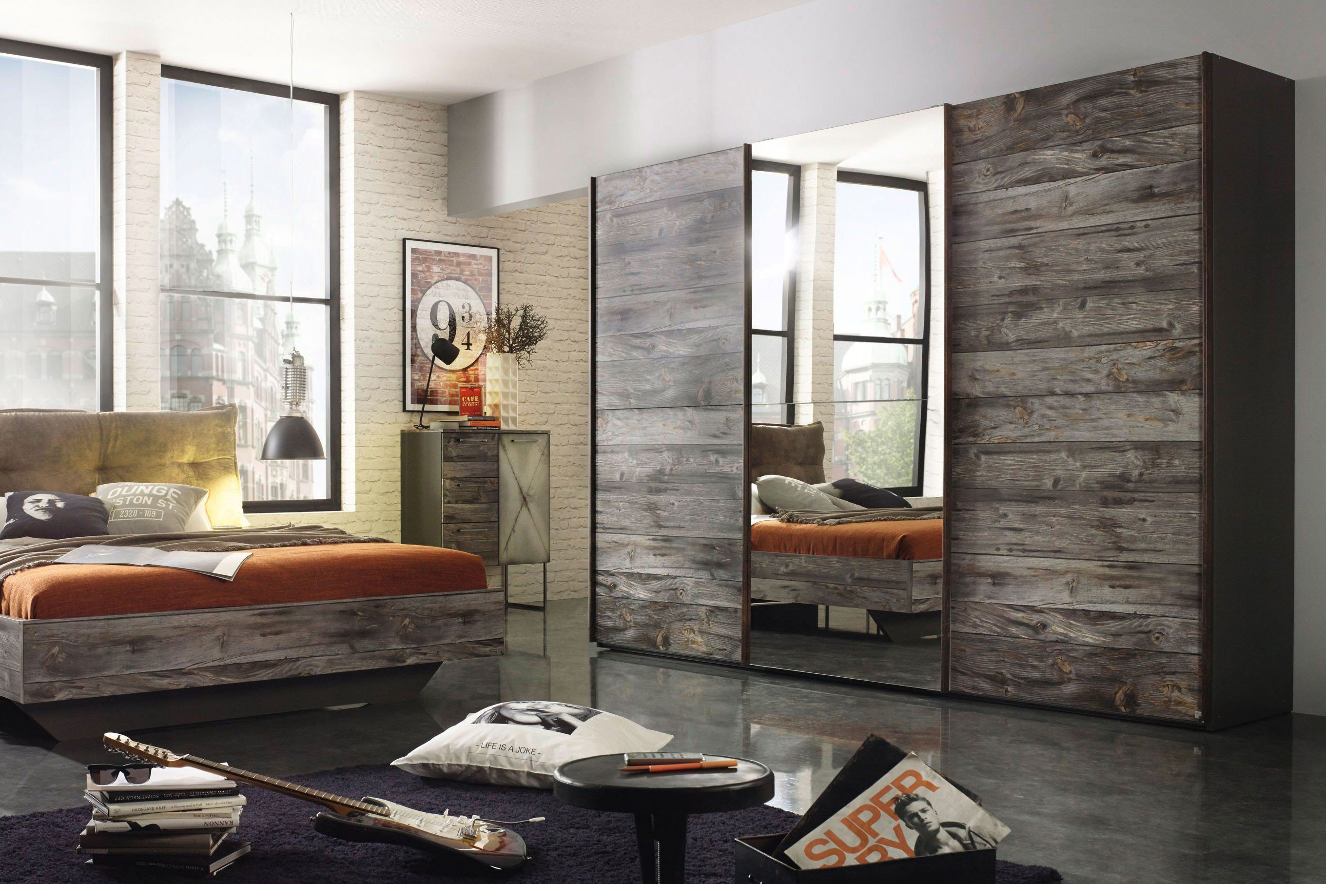rauch schrank timberstyle industrial design m bel letz ihr online shop. Black Bedroom Furniture Sets. Home Design Ideas