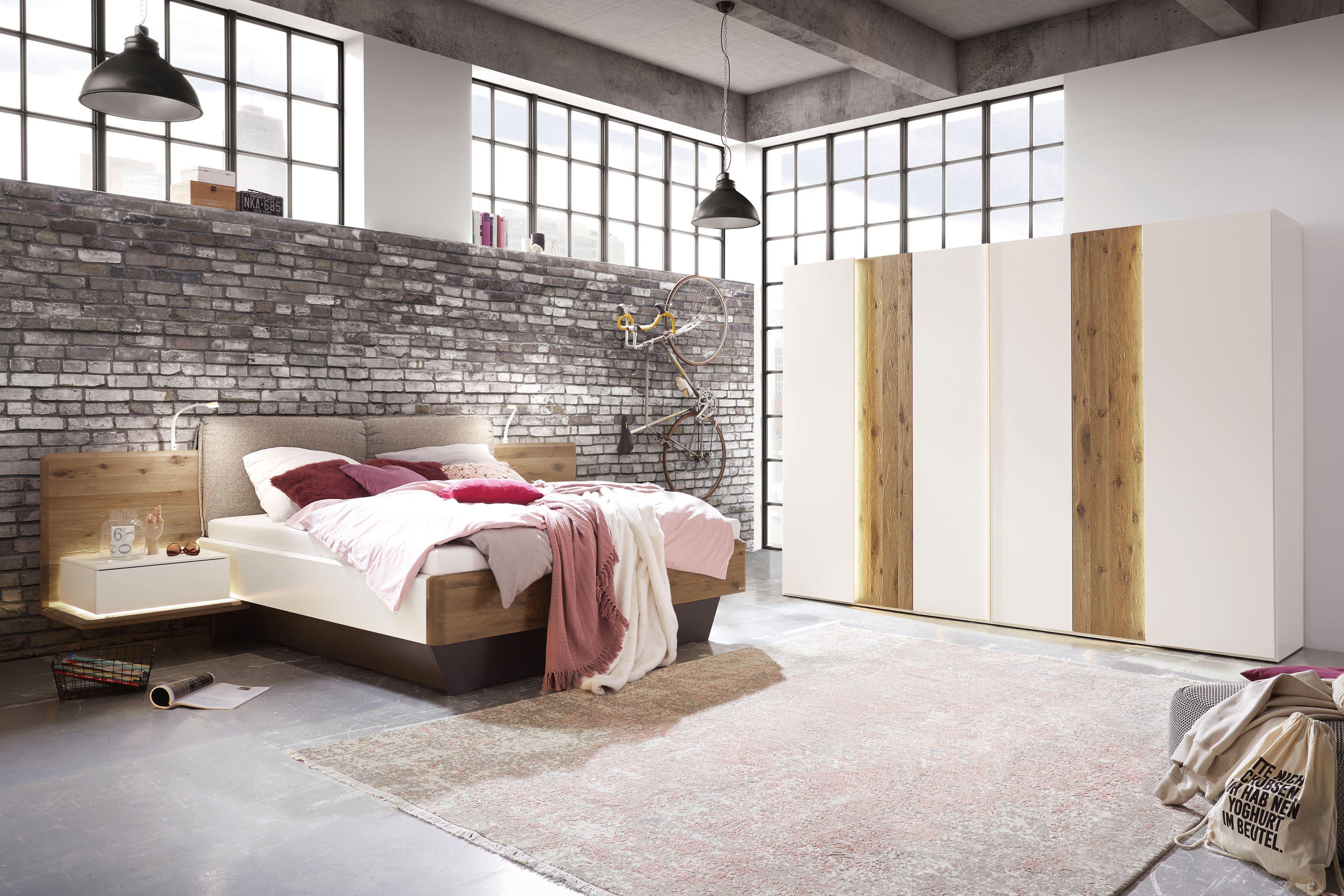 Schlafzimmer Feel von Thielemeyer Wildeiche - Lack weiß | Möbel Letz ...