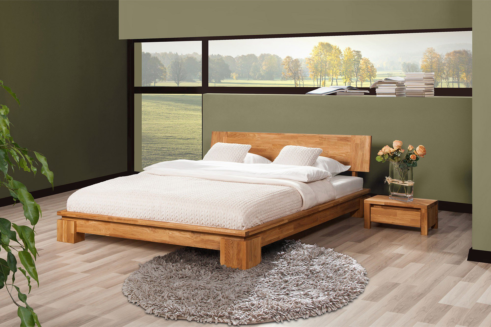 the beds vinci holzbett eiche mit kopfteil m bel letz ihr online shop. Black Bedroom Furniture Sets. Home Design Ideas