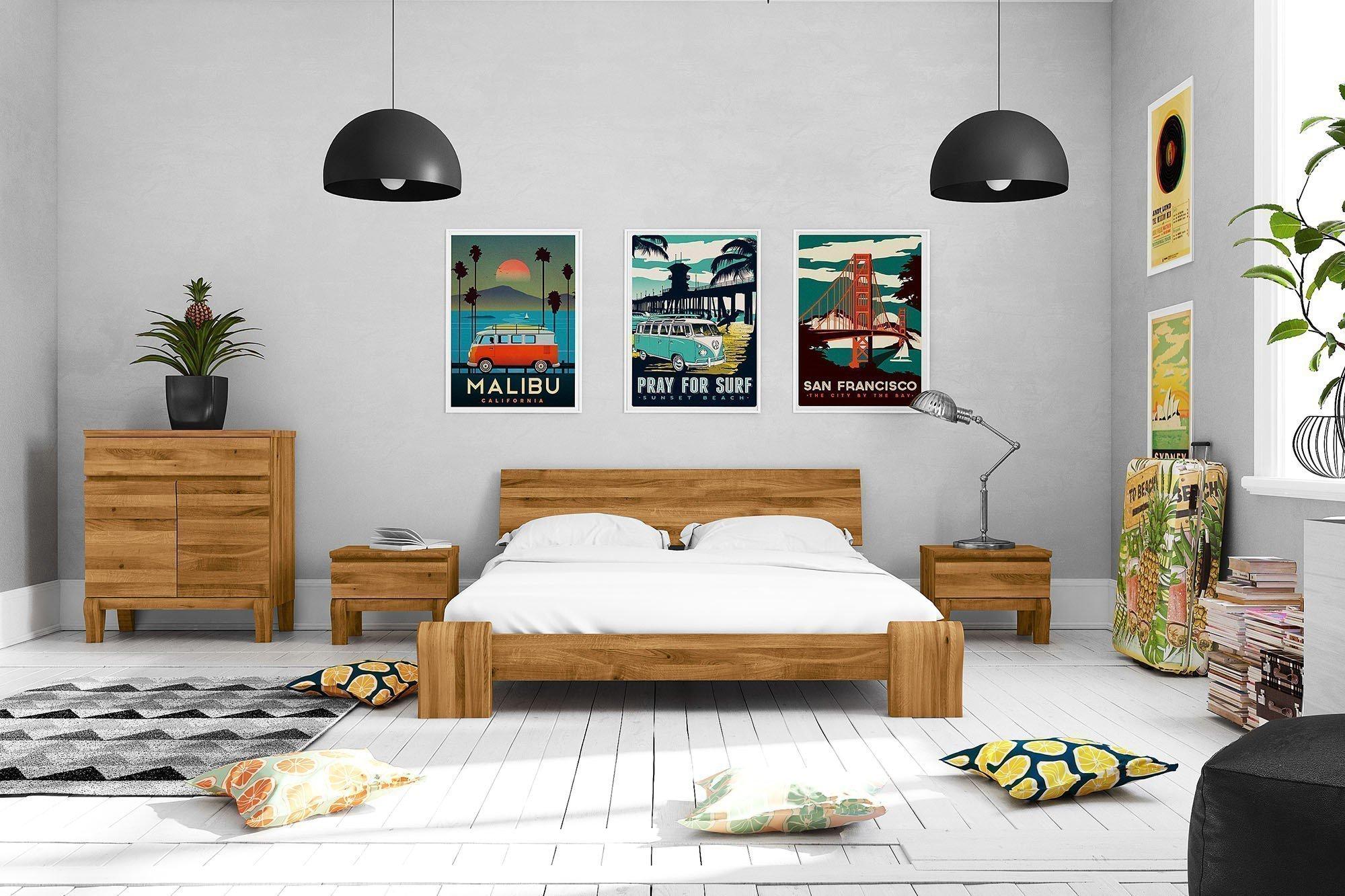 The Beds Bona flaches Bett Wildeiche natur   Möbel Letz - Ihr Online ...