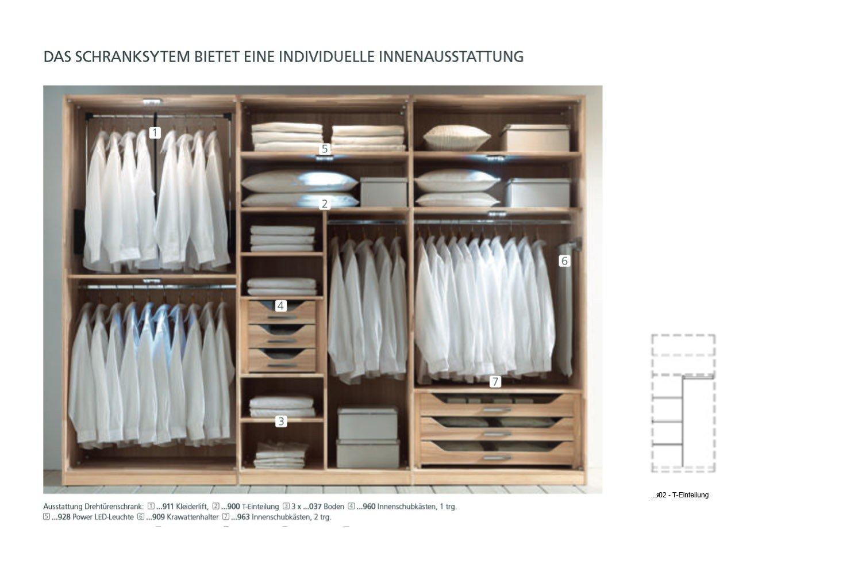 Beeindruckend Kleiderschrank Mit Innenausstattung Sammlung Von Isola Von Thielemeyer - Wildeiche - Parsolglas