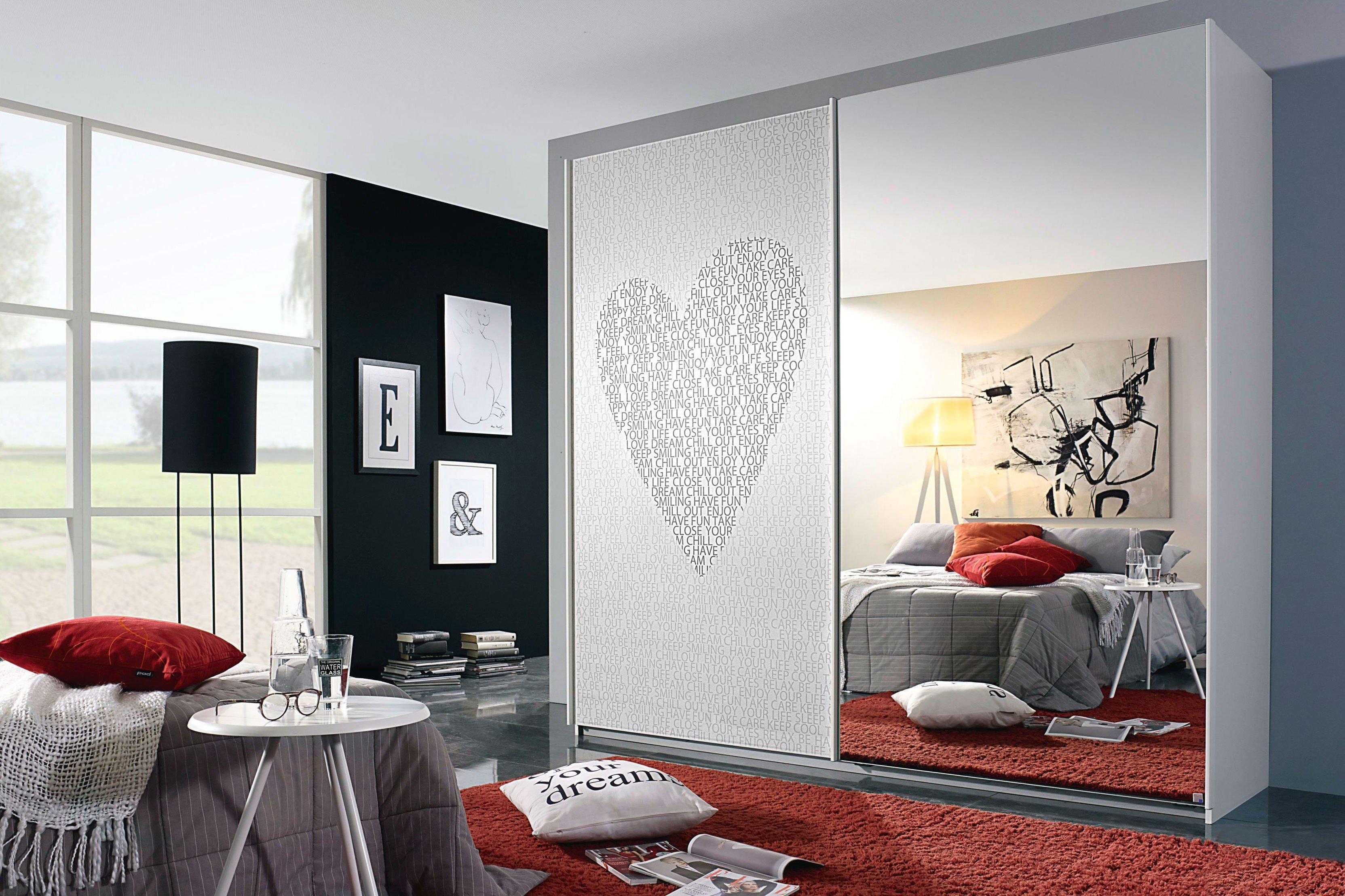 rauch herzberg kleiderschrank wei textmotiv m bel letz ihr online shop. Black Bedroom Furniture Sets. Home Design Ideas