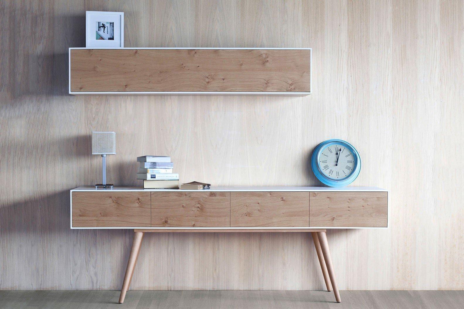 Unglaublich Lowboard Eiche Weiß Sammlung Von Helsinki Von Kanem Kollektion Nordica - Eiche/