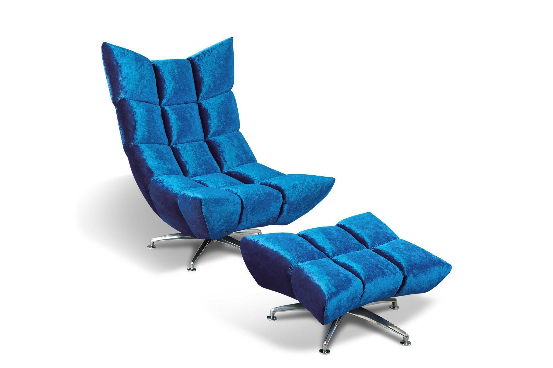 Bretz Hangout Designersessel In Blau Möbel Letz Ihr Online Shop
