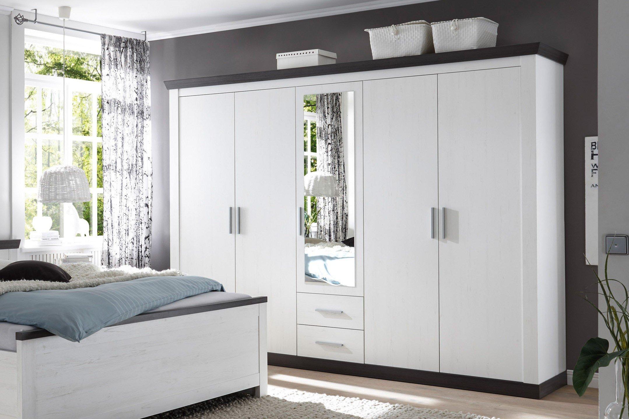 imv steinheim siena kleiderschrank wei mit 5 t ren m bel letz ihr online shop. Black Bedroom Furniture Sets. Home Design Ideas