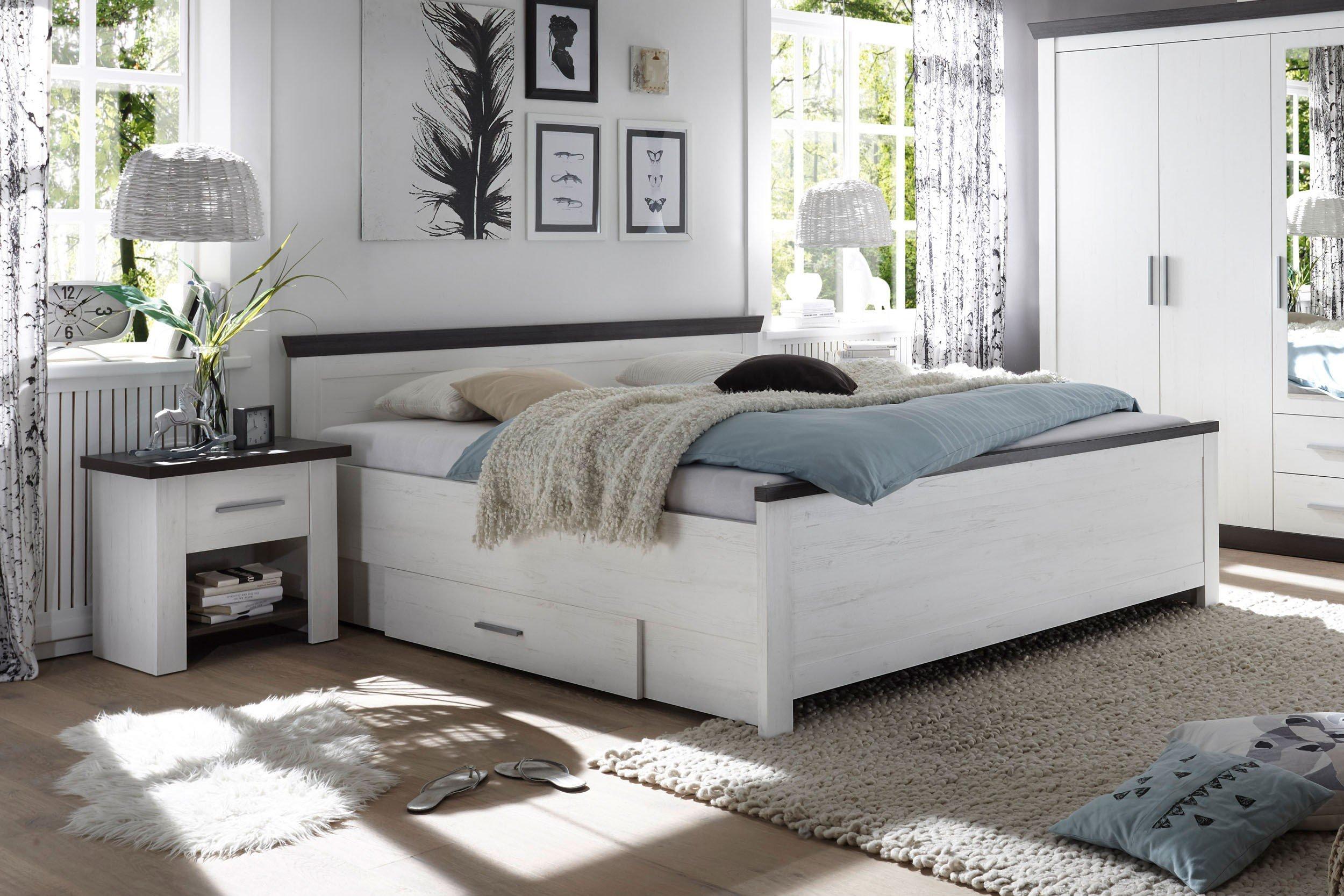 Siena Von IMV Steinheim   Bett In Pinie Weiß/ Wenge