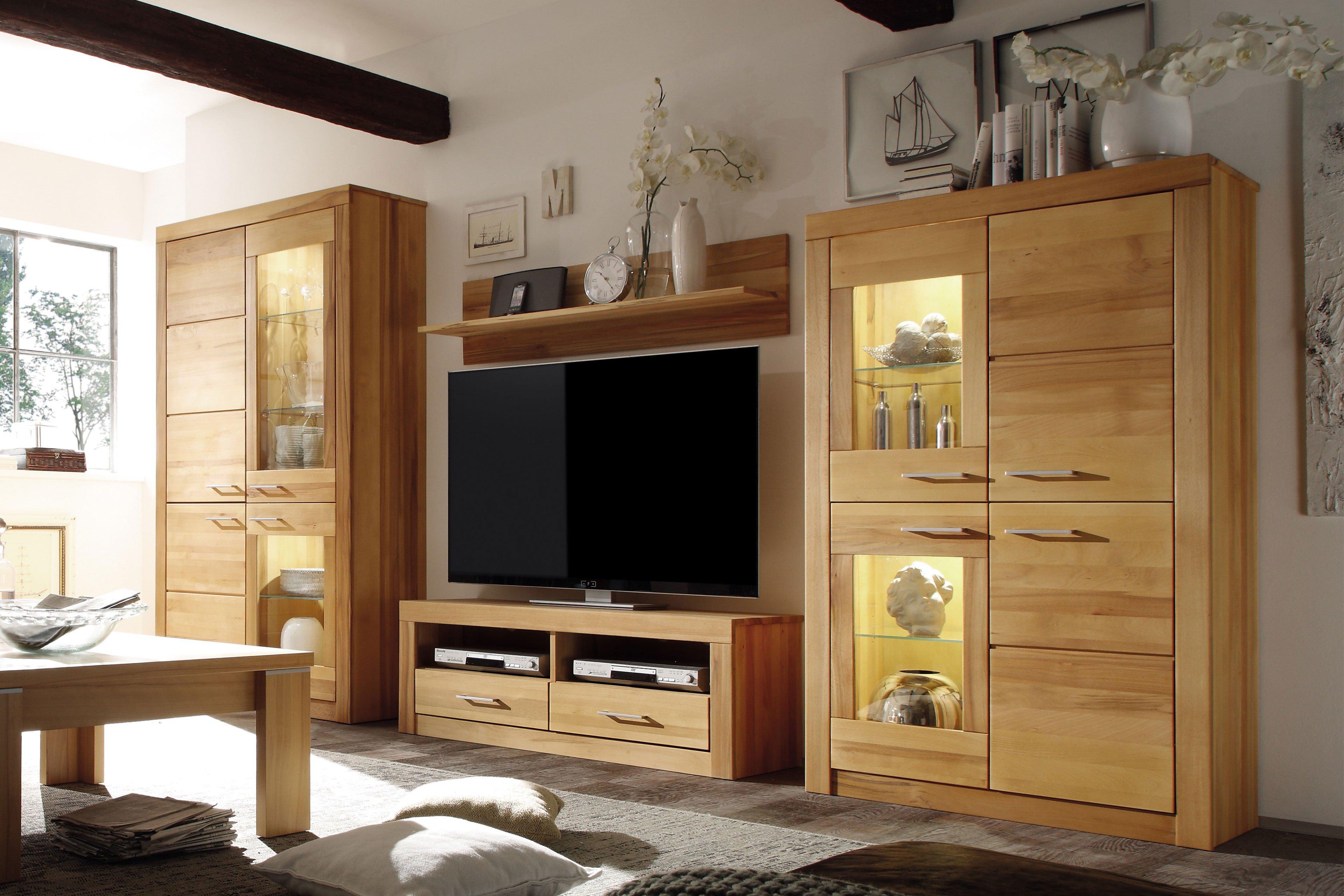 Wohnglücklich Wohnwand Luzern Wildeiche Natur Möbel Letz Ihr