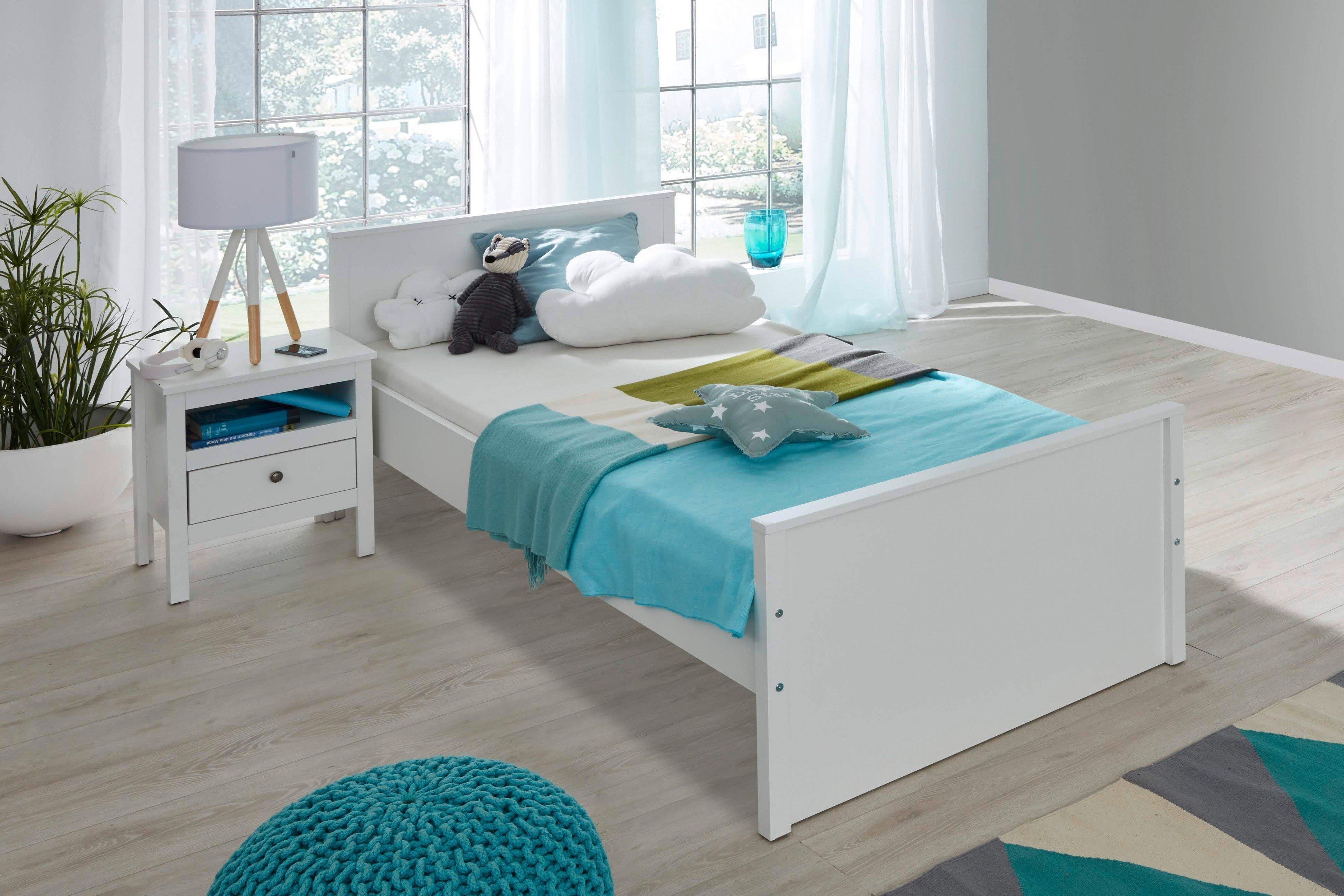 trendteam ole jugendbett 90x200 cm wei m bel letz. Black Bedroom Furniture Sets. Home Design Ideas
