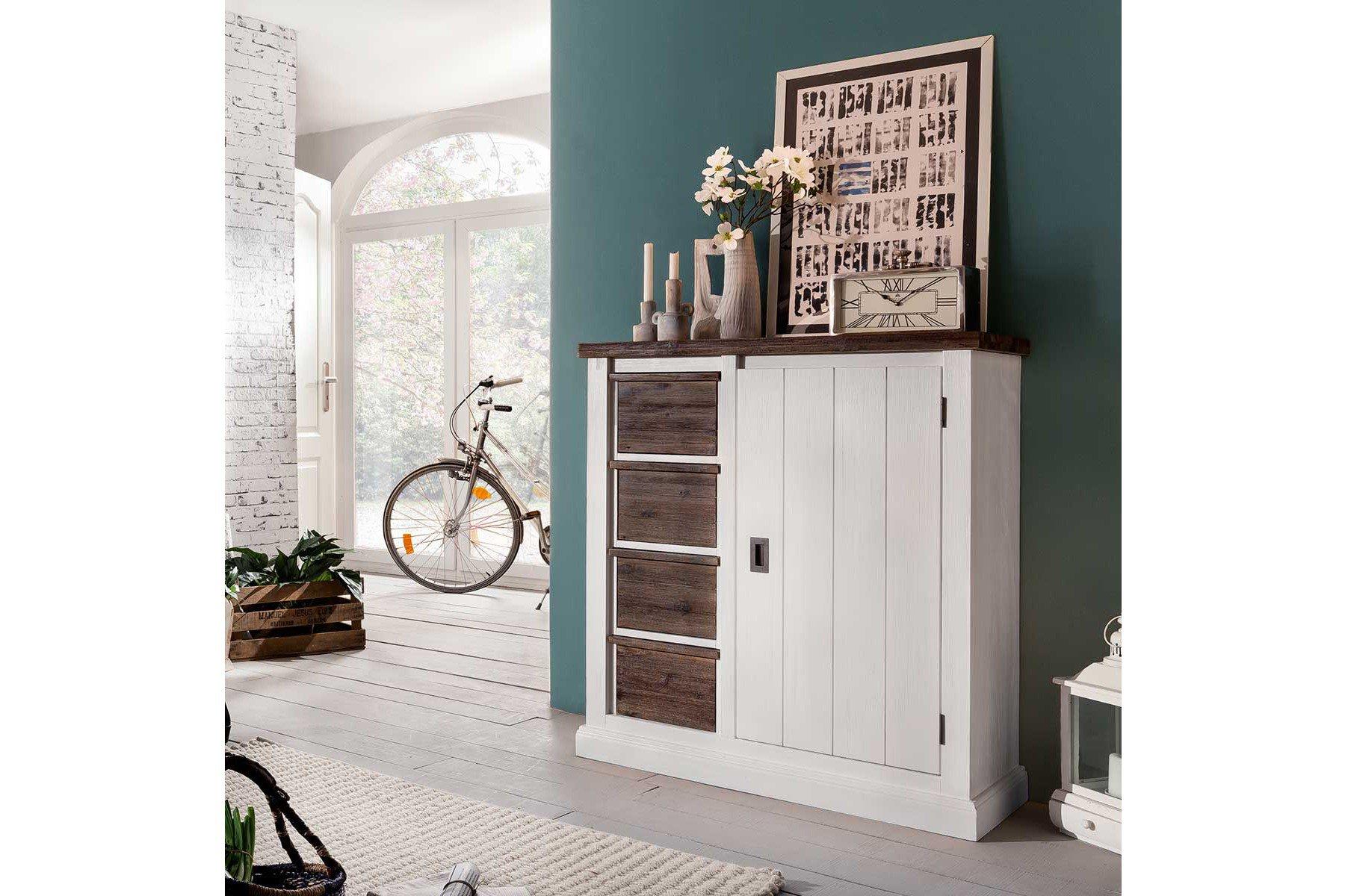 Ideal Group Kommode Loft Akazie Braun Weiß Möbel Letz Ihr Online