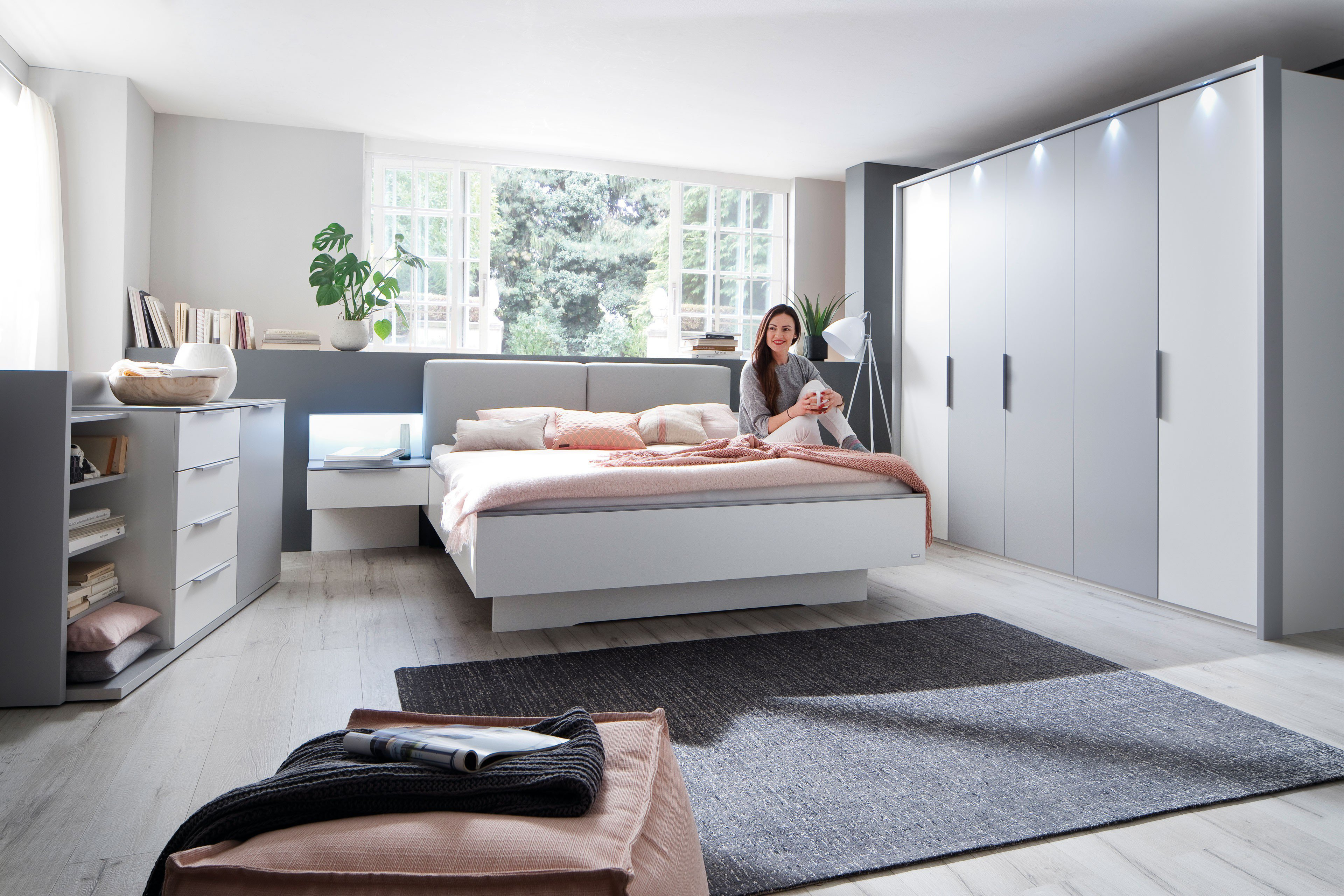 colina casada schlafzimmer set 4 teilig wei grau. Black Bedroom Furniture Sets. Home Design Ideas