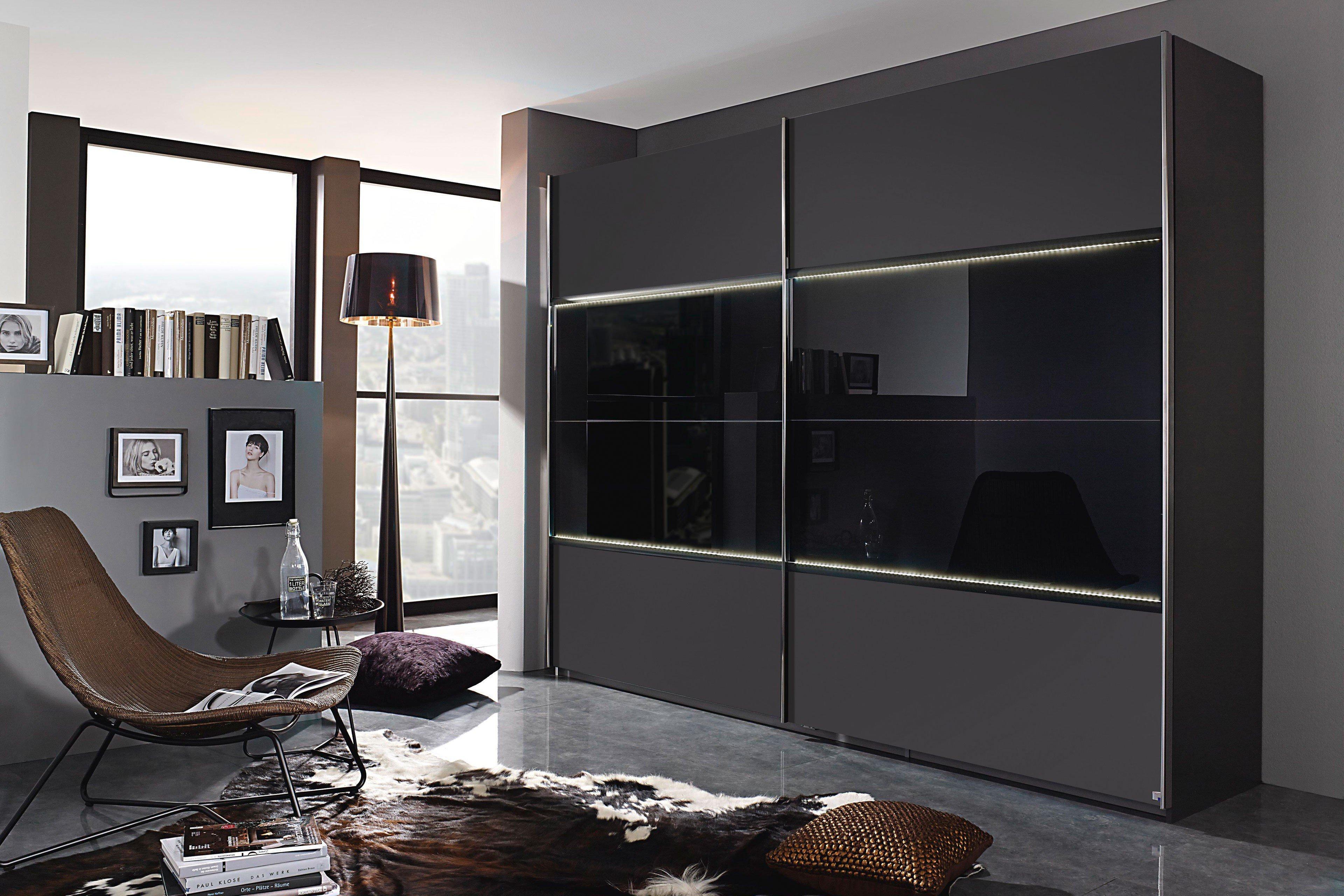 rauch erlangen kleiderschrank grau glas basalt m bel letz ihr online shop. Black Bedroom Furniture Sets. Home Design Ideas