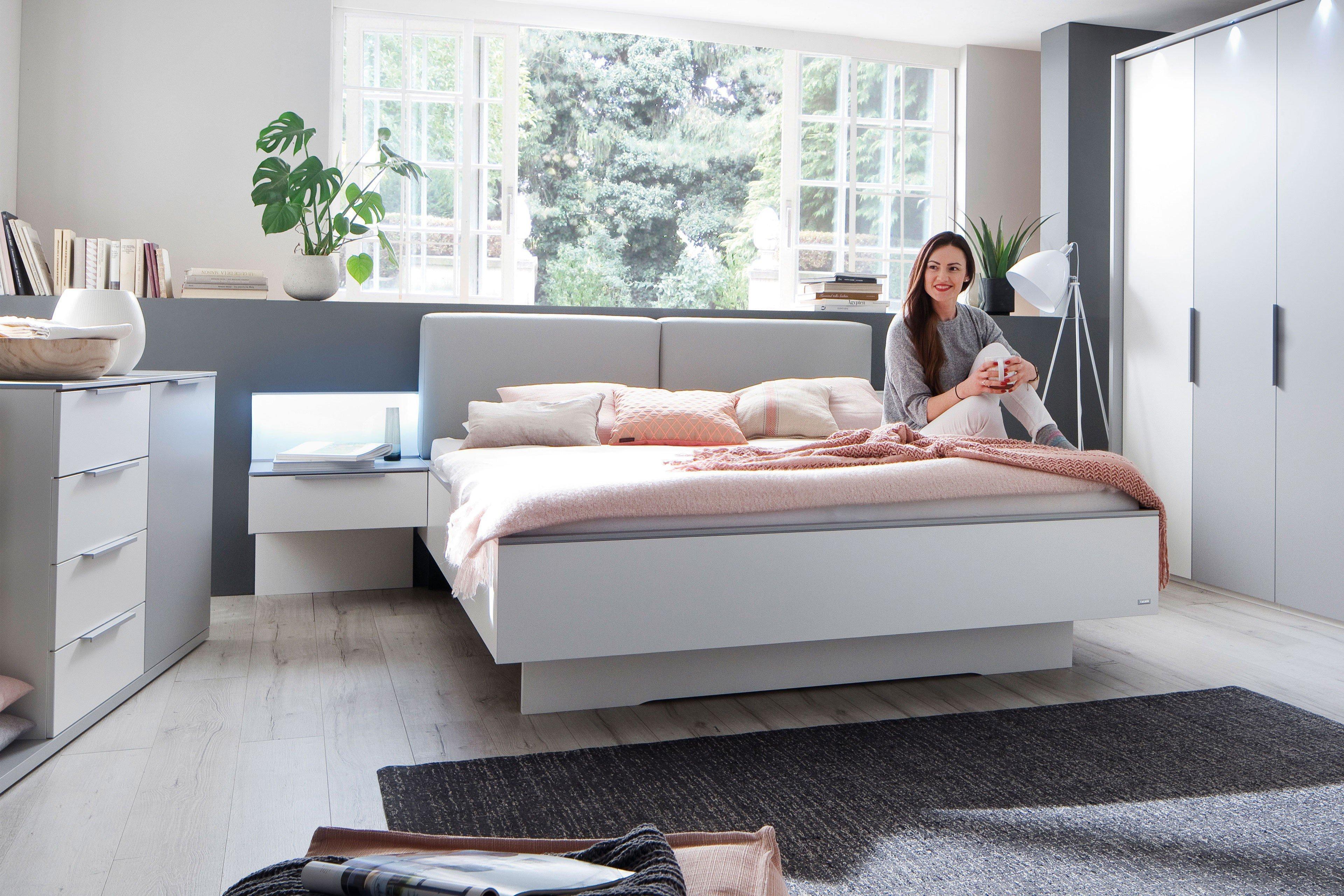 Wunderschön Doppelbett Weiß 180x200 Referenz Von Colina Von Casada - Weiß - Seidengrau