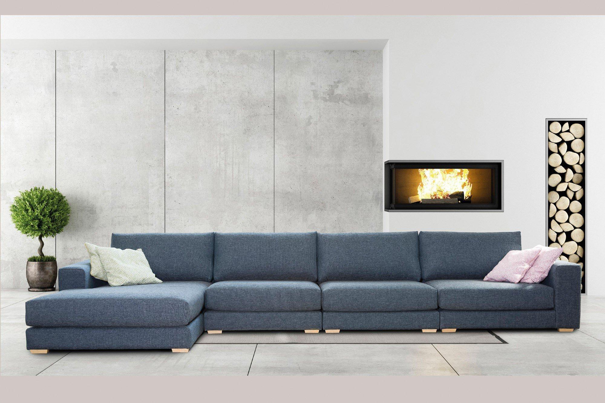 Viale Spazio Polstergarnitur Blau Grau Mobel Letz Ihr Online Shop