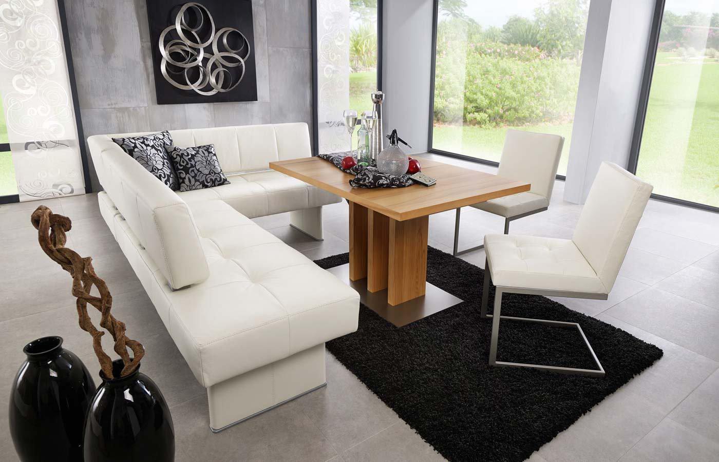 Eckbankgruppe weiß leder  K+W Silaxx Eckbank Spider in Weiß | Möbel Letz - Ihr