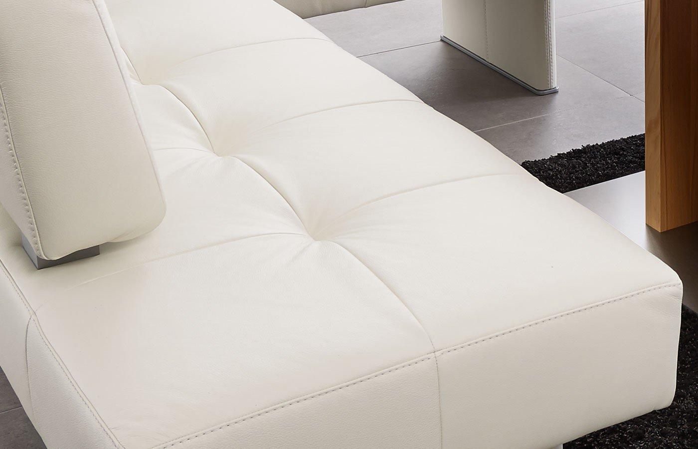 Eckbank weiß leder  K+W Silaxx Eckbank Spider in Weiß | Möbel Letz - Ihr