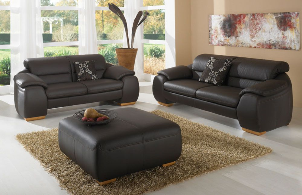 ledersofa barny von k w polsterm bel m bel letz ihr online shop. Black Bedroom Furniture Sets. Home Design Ideas