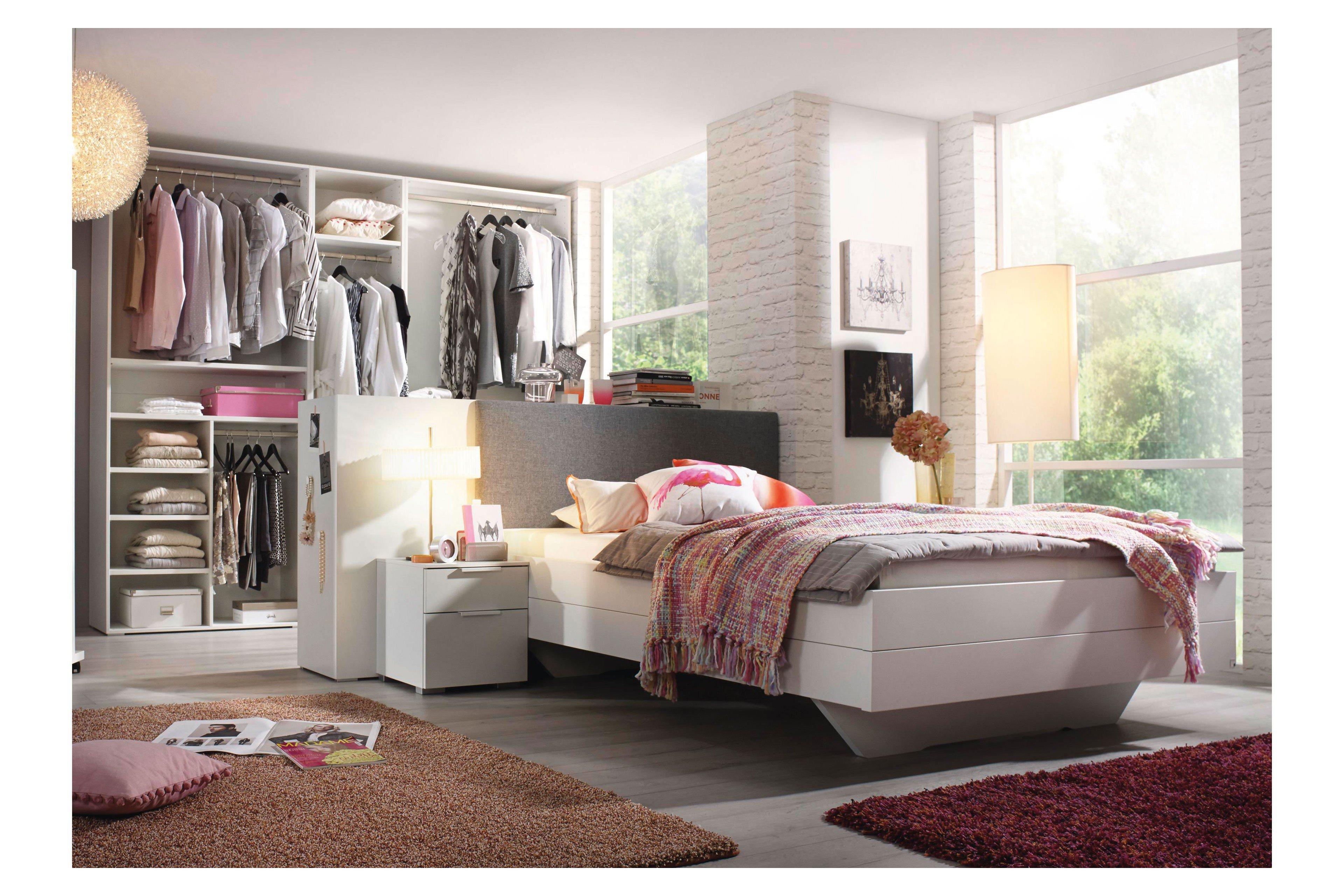 Dressbox Von Rauch Select   Bett Weiß Mit Raumteiler