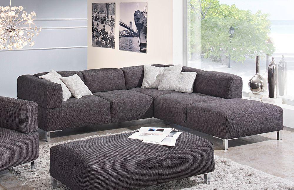 k w polsterm bel loft anthrazit ecksofa m bel letz ihr online shop. Black Bedroom Furniture Sets. Home Design Ideas