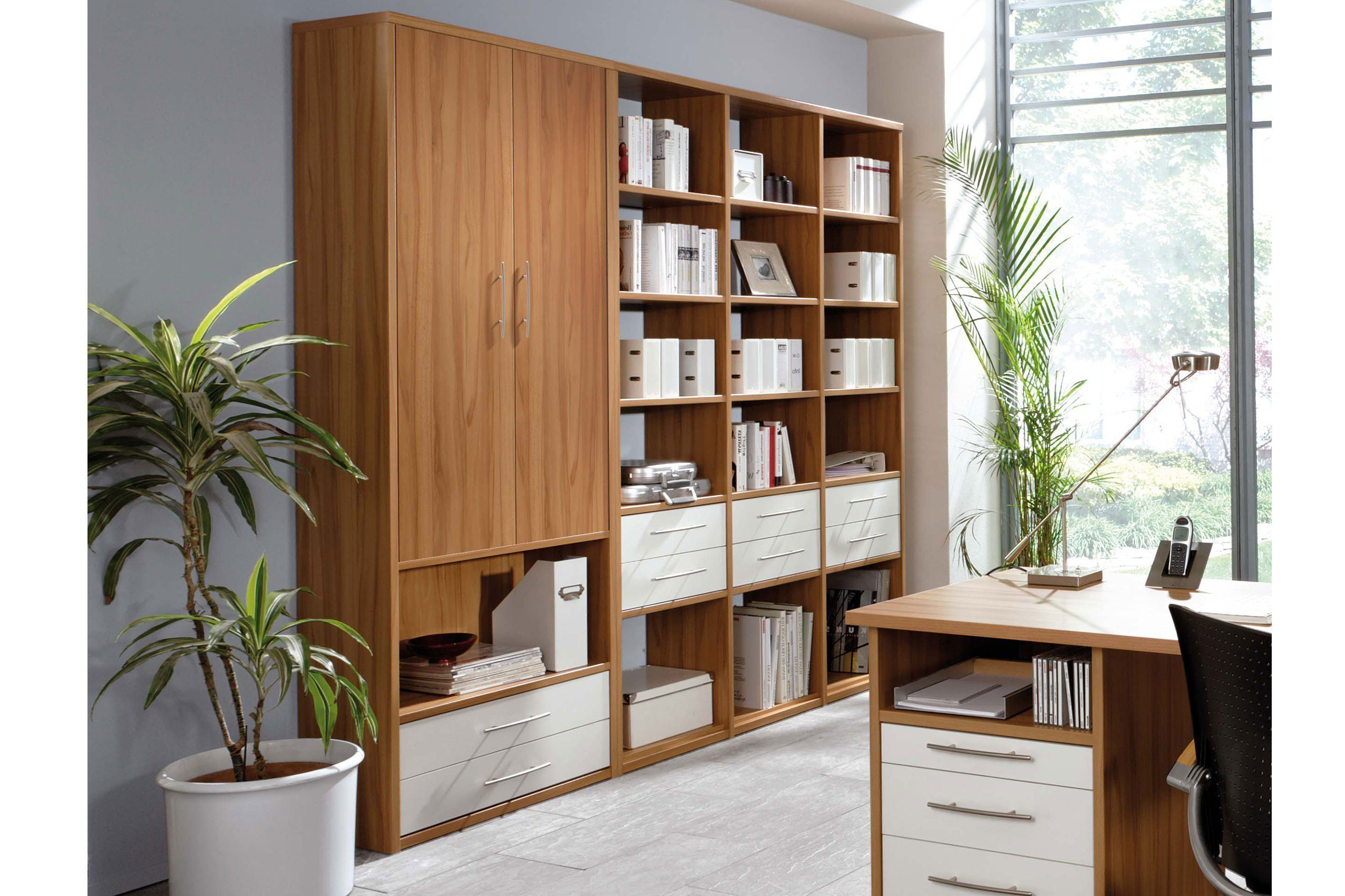 priess schrank home office in kernbuche nachbildung m bel letz ihr online shop. Black Bedroom Furniture Sets. Home Design Ideas