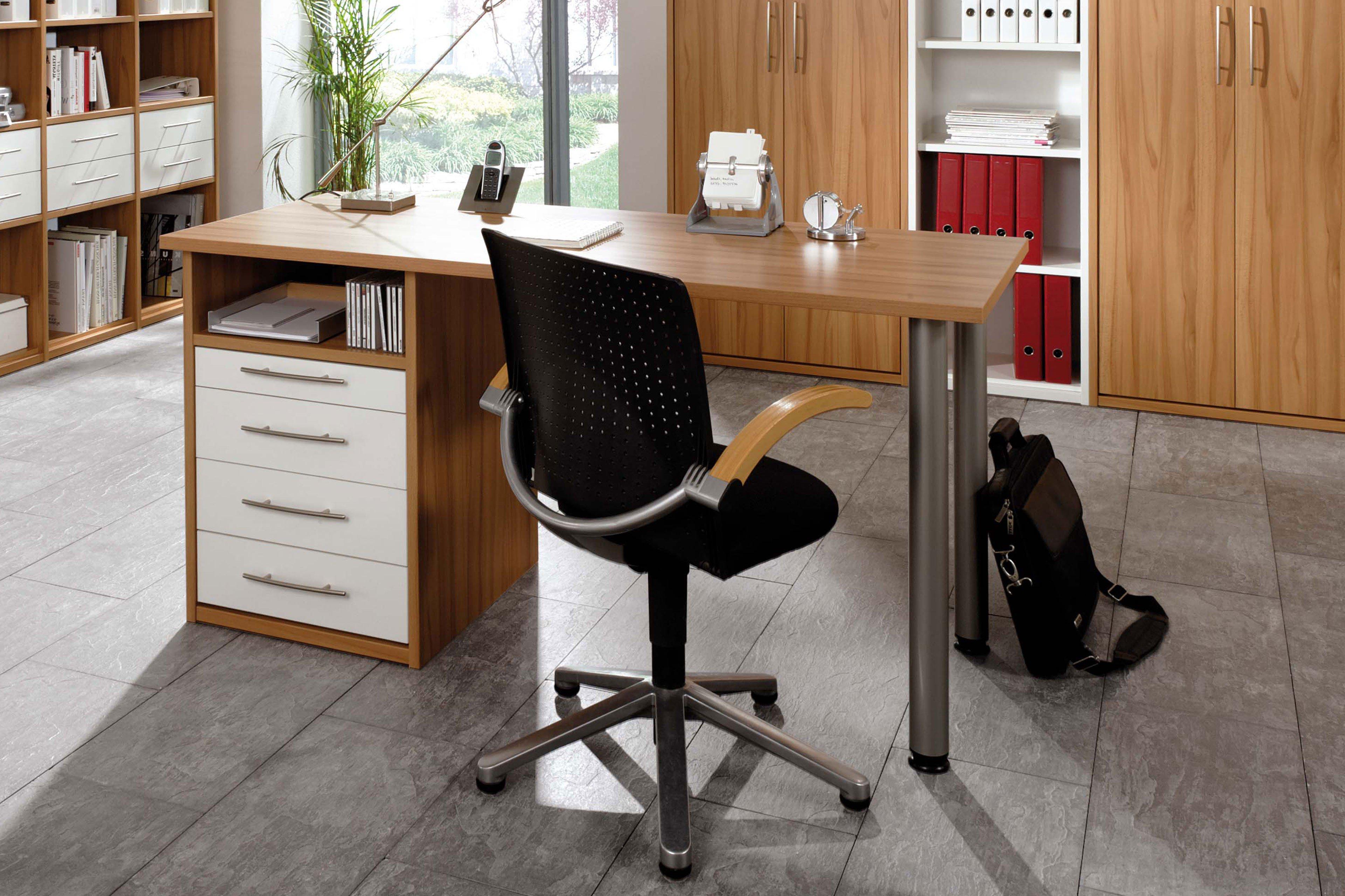 priess schreibtisch home office kernbuche wei m bel letz ihr online shop. Black Bedroom Furniture Sets. Home Design Ideas