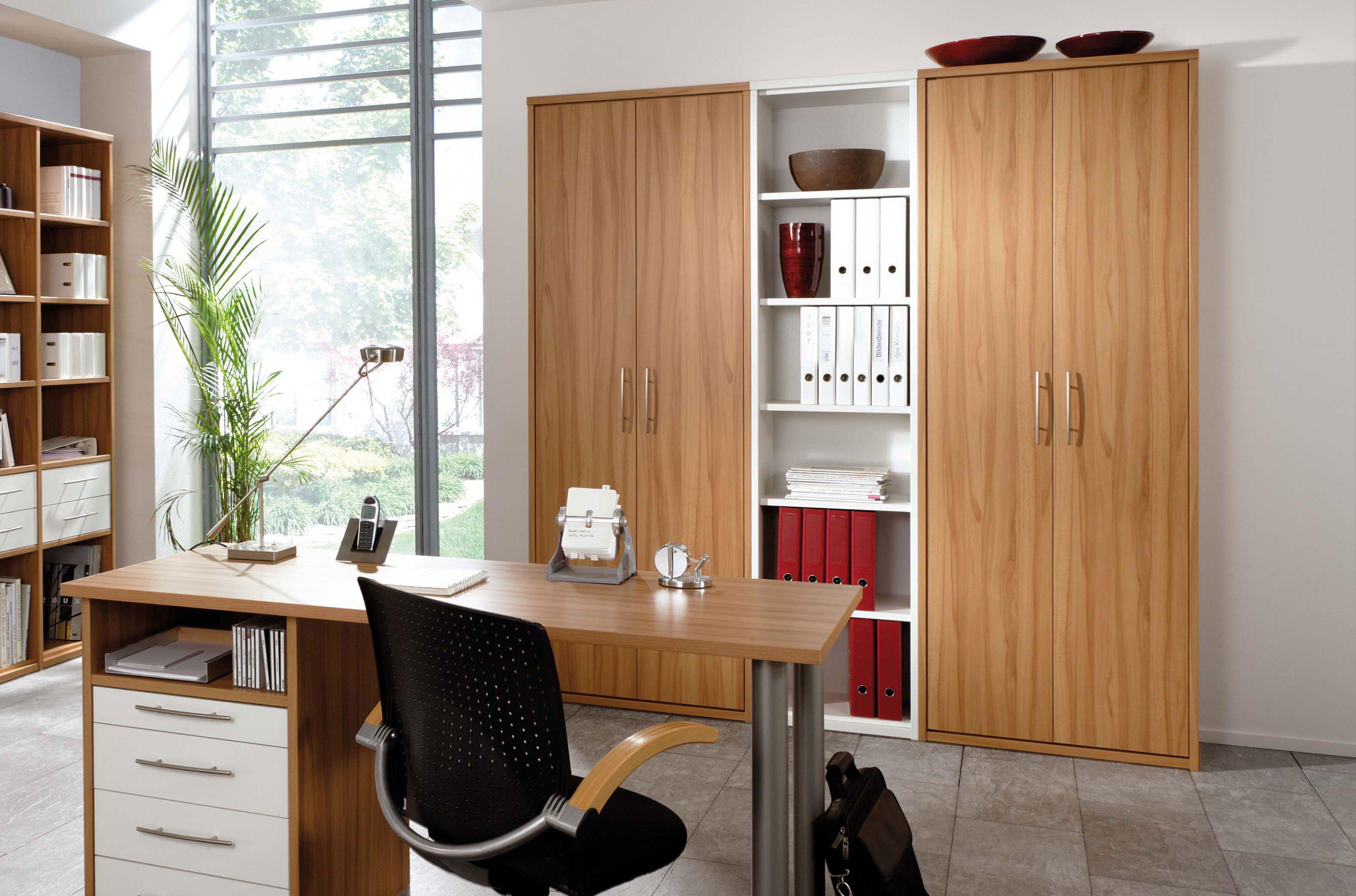 42e761e53f1d25 Home Office von Priess Möbel - Schrank in Kernbuche-Nachbildung