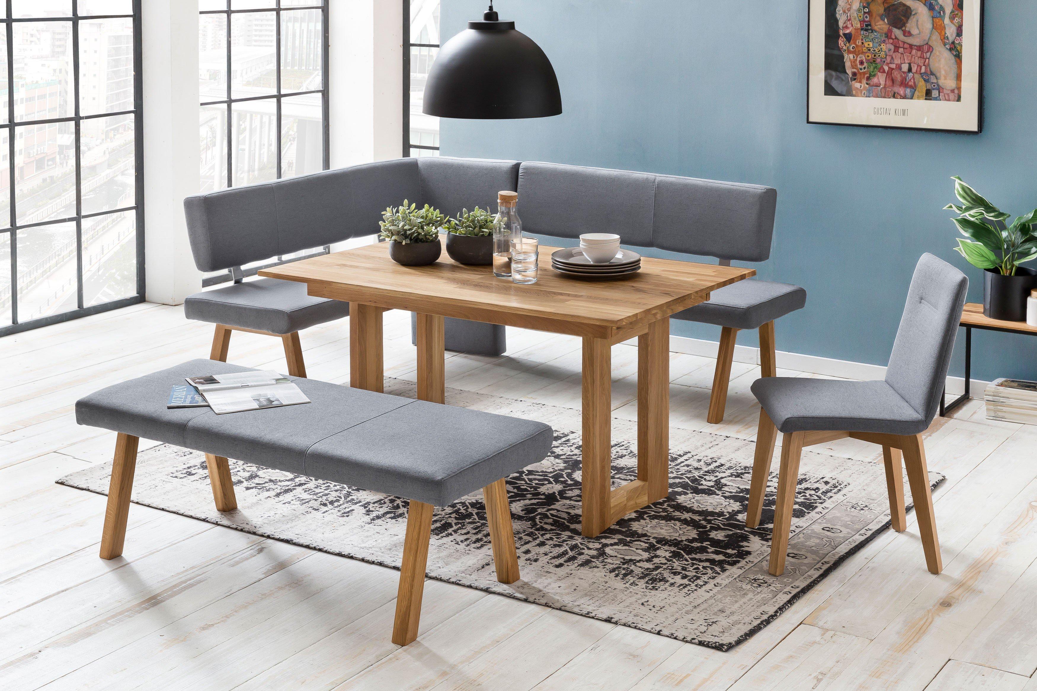 Standard Furniture Eckbank Konstanz Aus Eiche Natur Geolt Grau