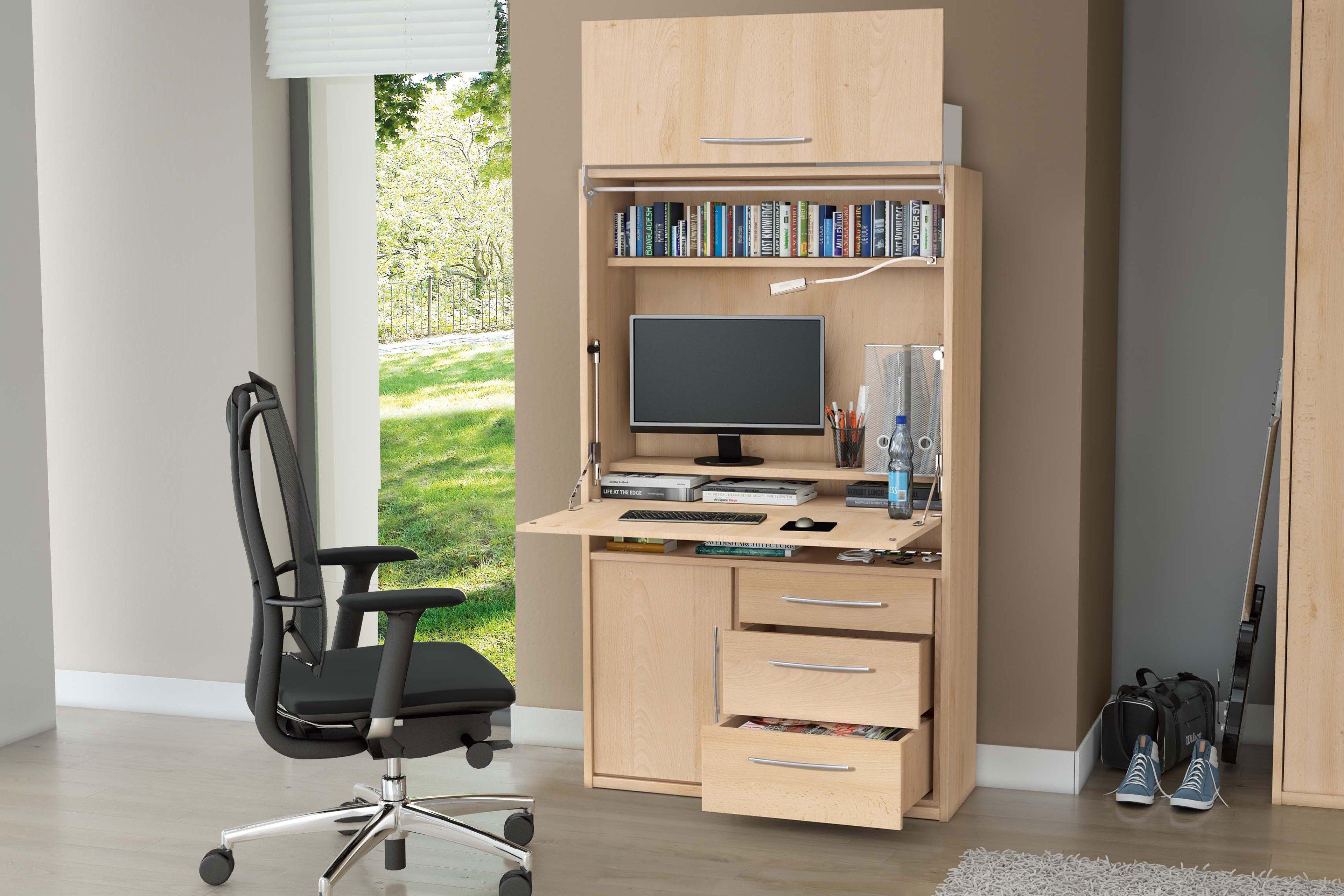 priess sekret r home office mit schwenkliftt r m bel letz ihr online shop. Black Bedroom Furniture Sets. Home Design Ideas