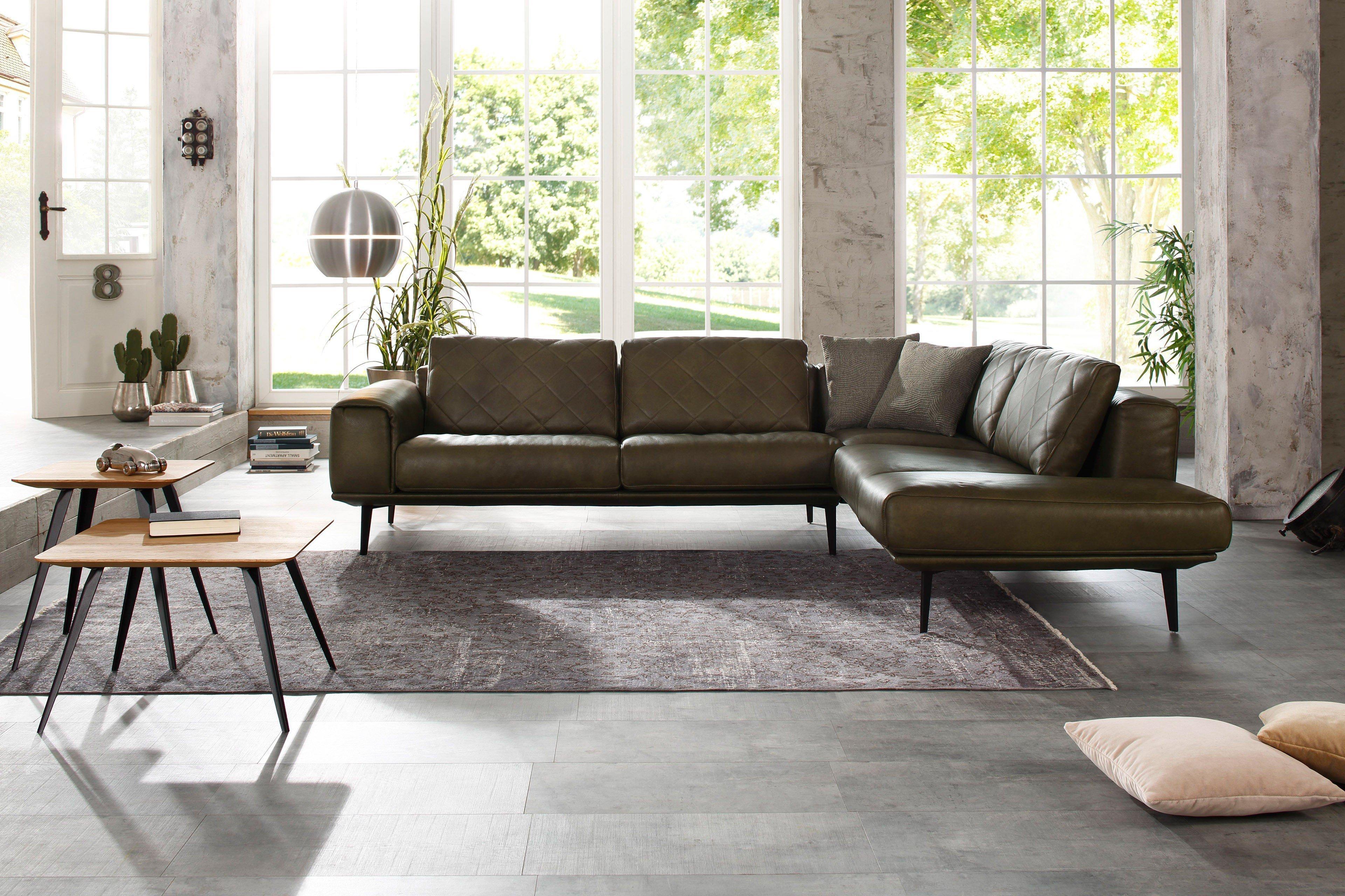 willi schillig 23655 sam ledersofa in dunkelgr n m bel letz ihr online shop. Black Bedroom Furniture Sets. Home Design Ideas
