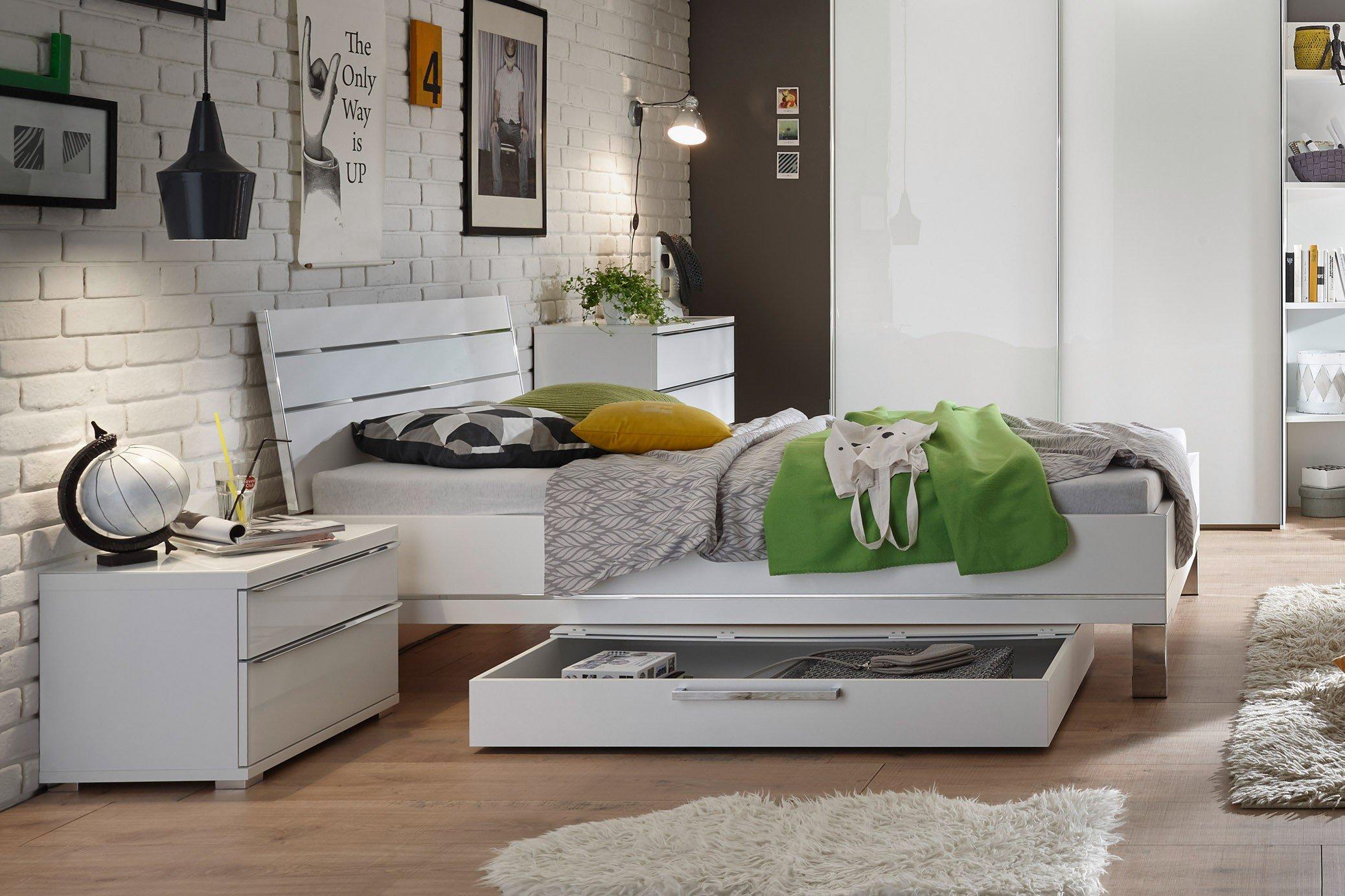 Staud Single Wohnen Schlafzimmereinrichtung weiß   Möbel Letz - Ihr ...