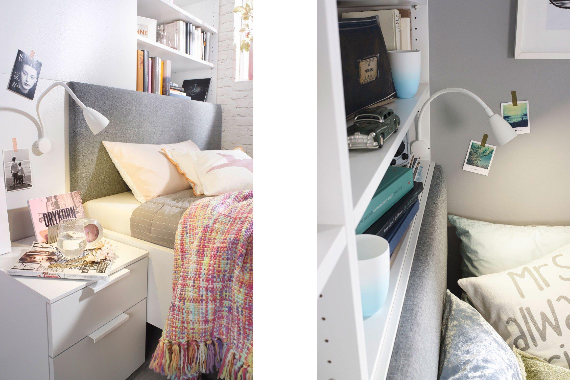 Rauch Dressbox Single-Schlafzimmer komplett weiß | Möbel Letz - Ihr ...