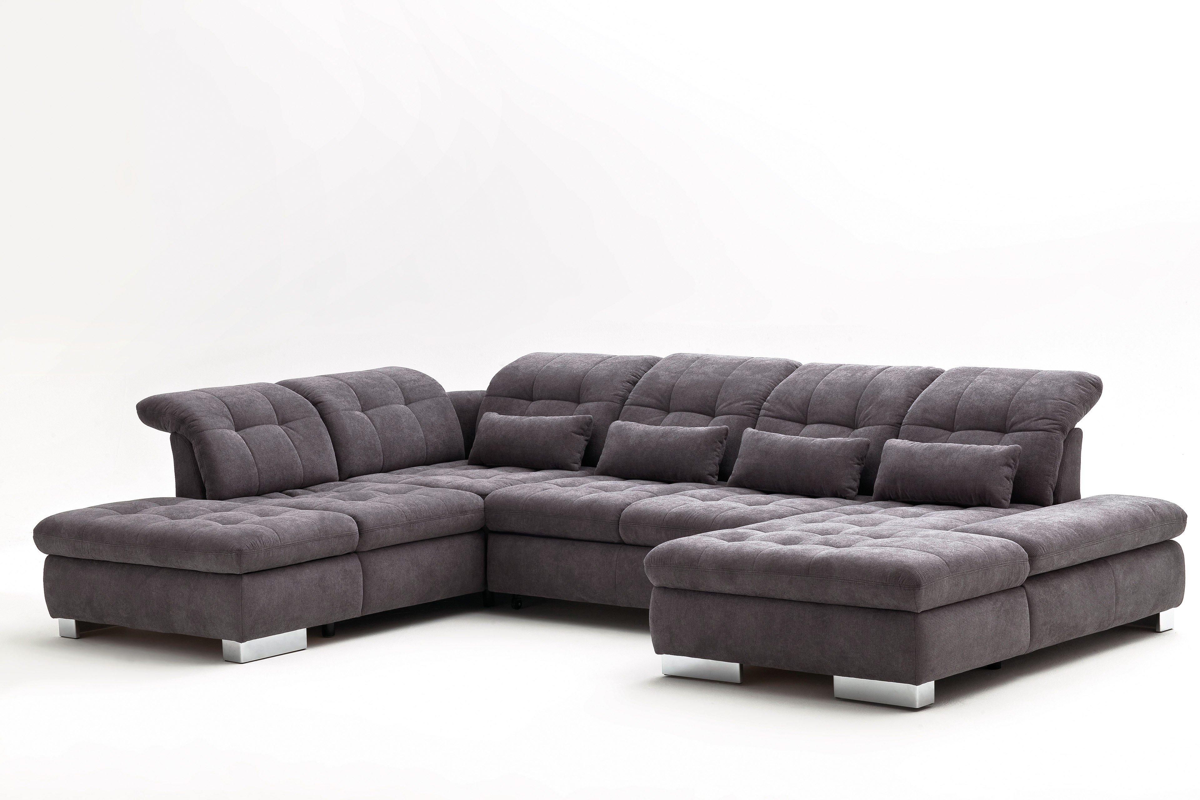 Poco Polstermöbel Bari Sofa in U-Form grau   Möbel Letz ...