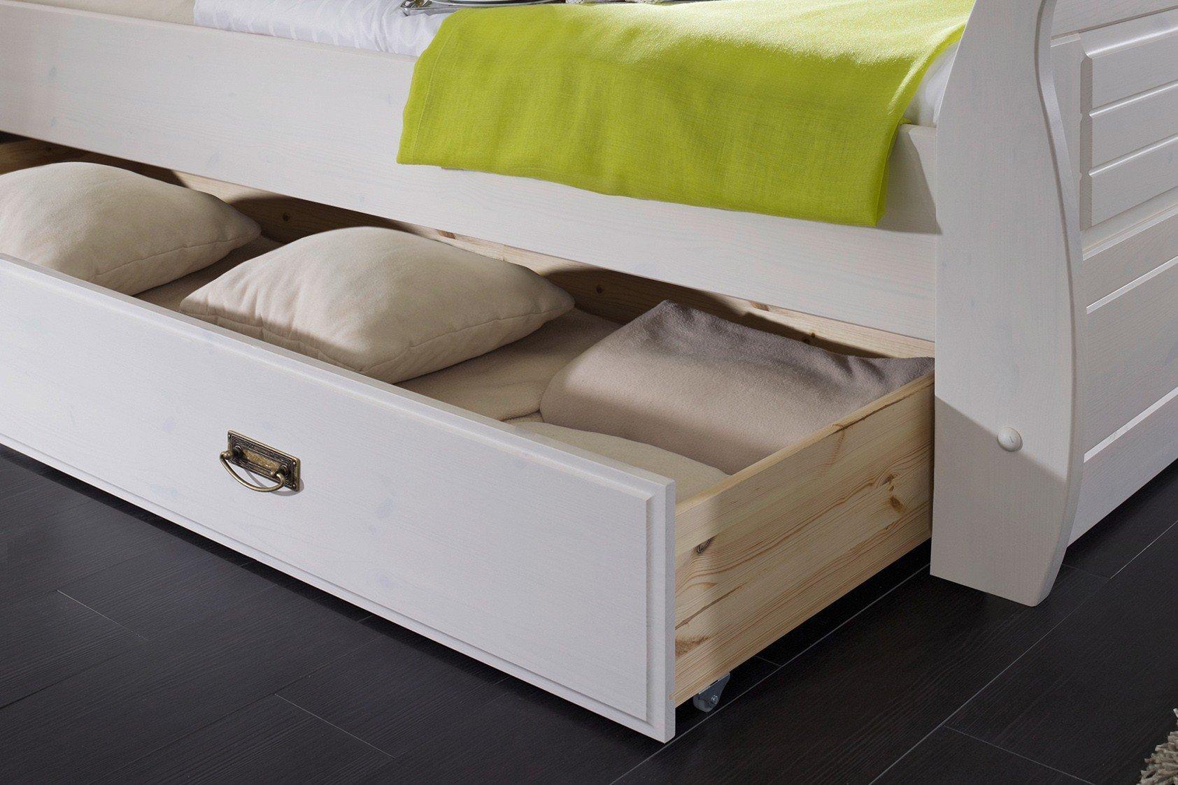 Roma von GK Möbelvertrieb - Schlafzimmer-Set weiß-honig