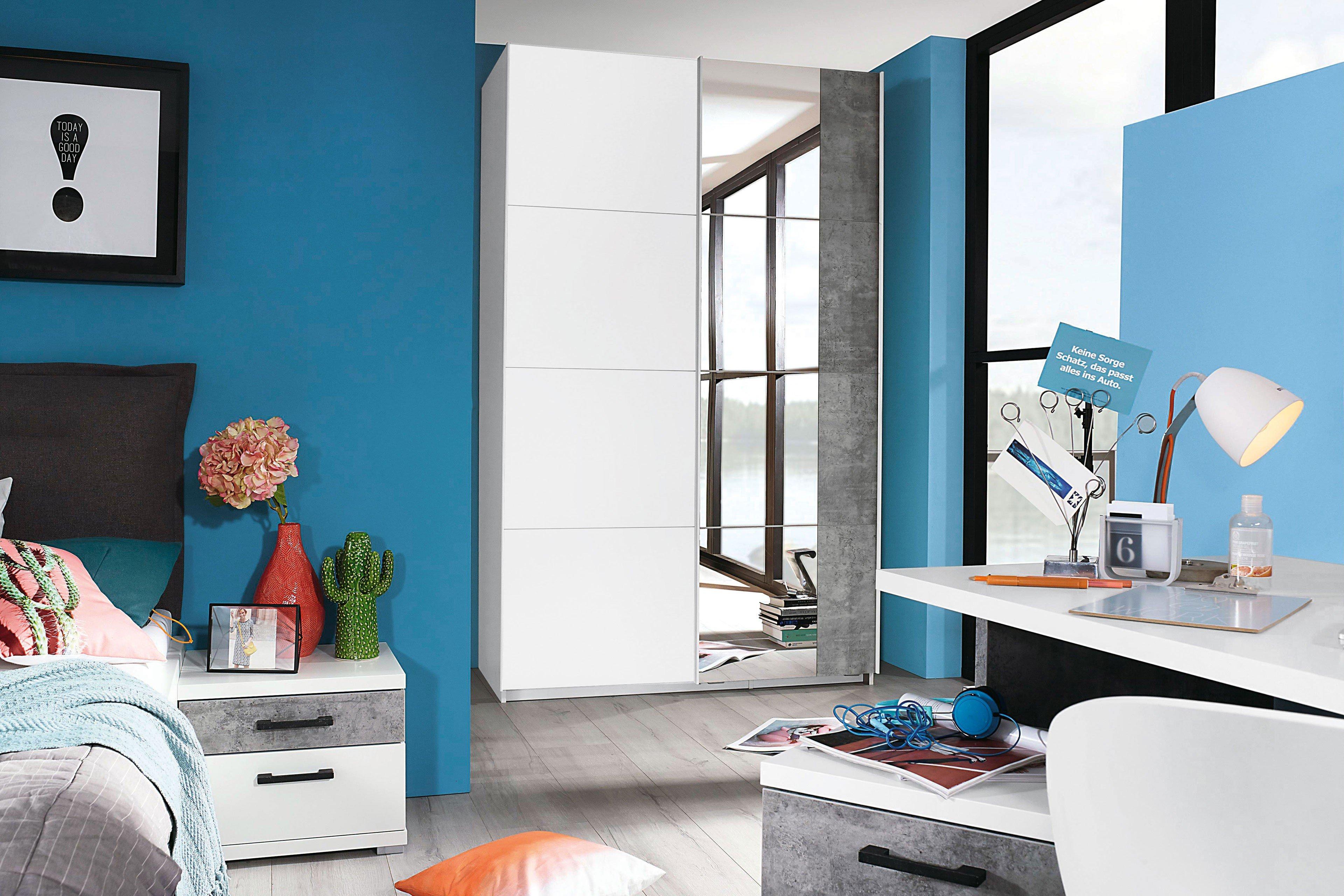 rauch nice4fantasy kleiderschrank wei spiegel m bel letz ihr online shop. Black Bedroom Furniture Sets. Home Design Ideas