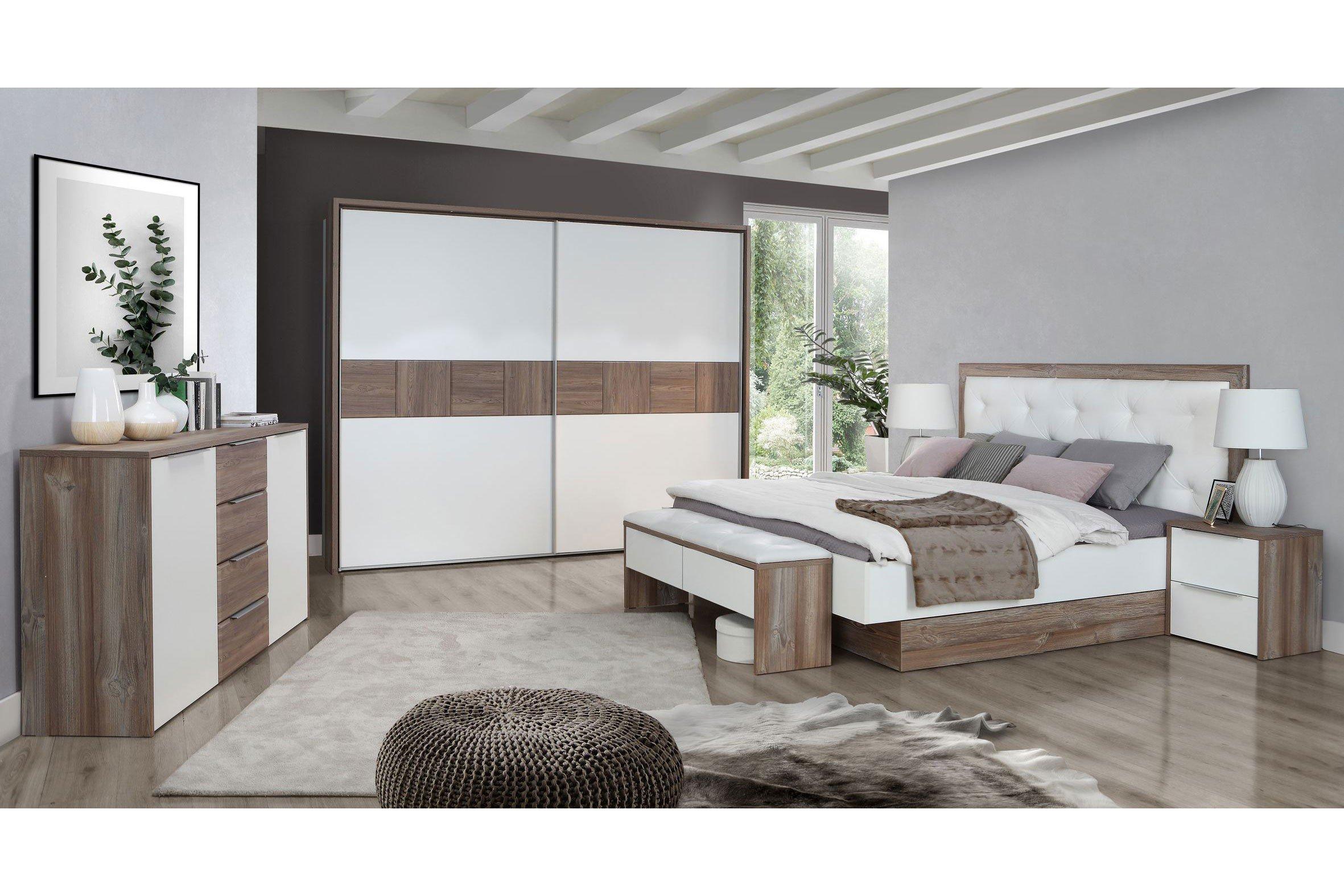 Forte Esporao Schlafzimmer weiß - Picea Nachbildung | Möbel Letz ...