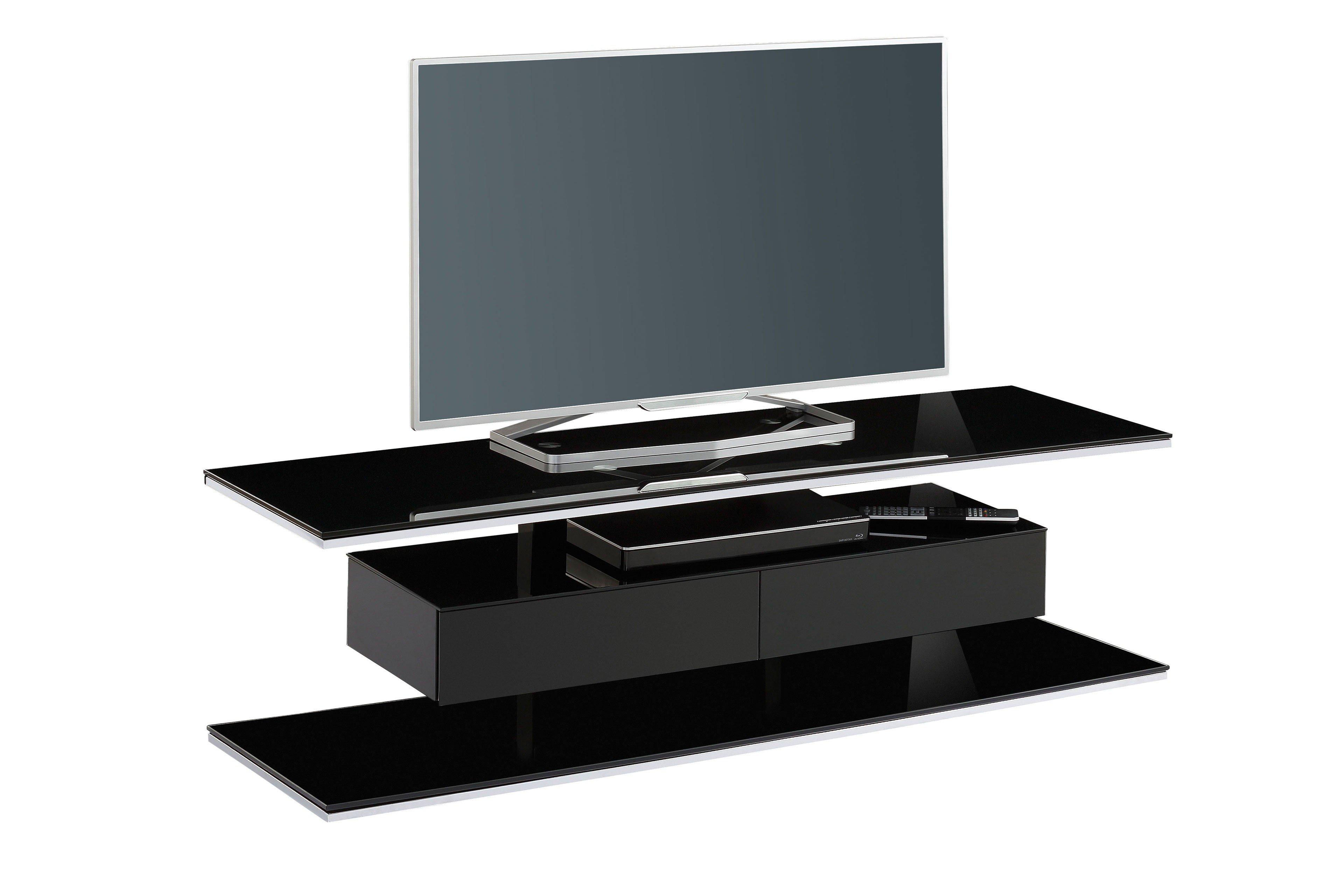 tv rack von maja mobel 7728 schwarzglas